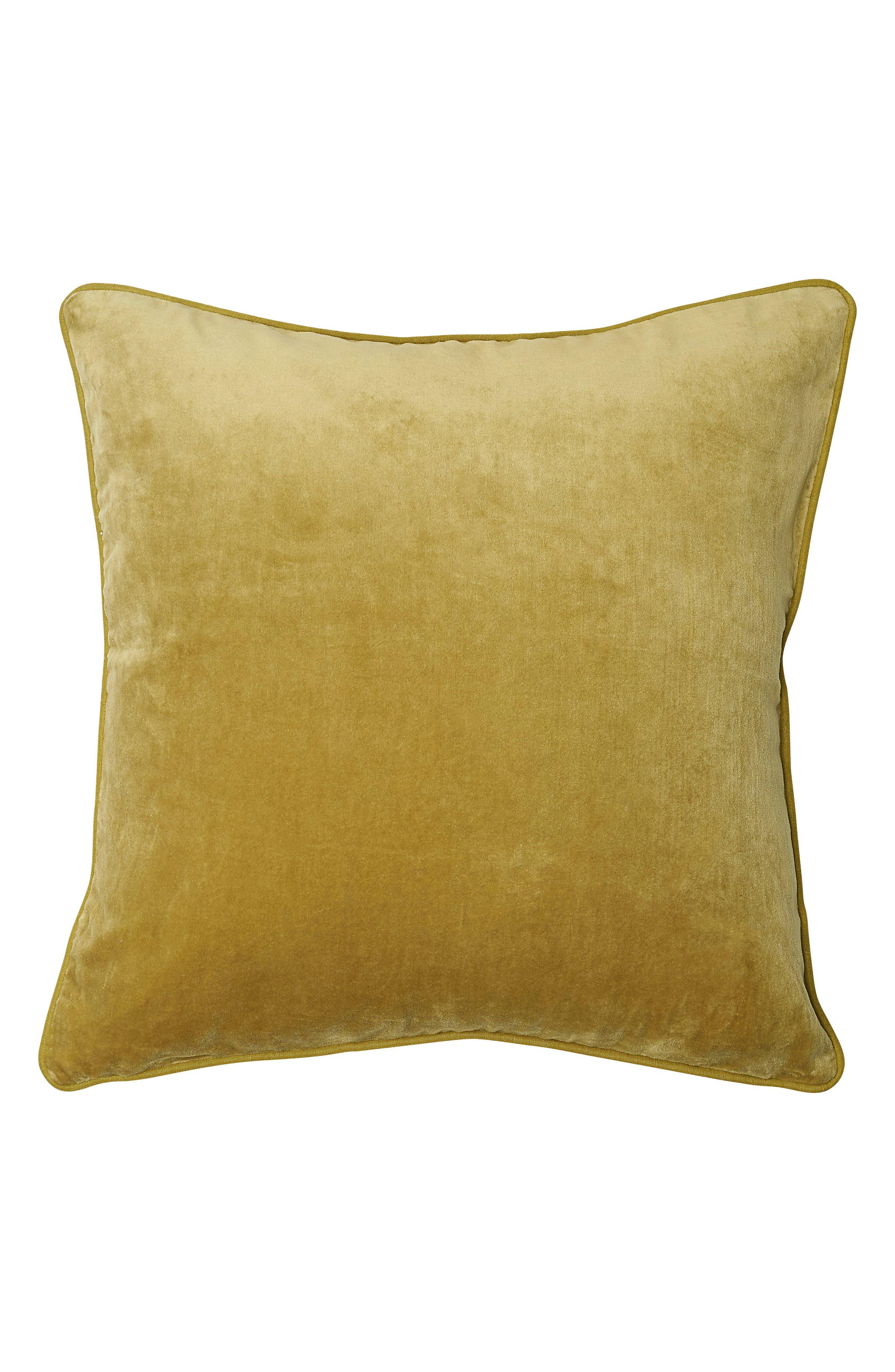 EADIE LIFESTYLE Lynette Velvet Scatter Accent Pillow, Main, color, LIME