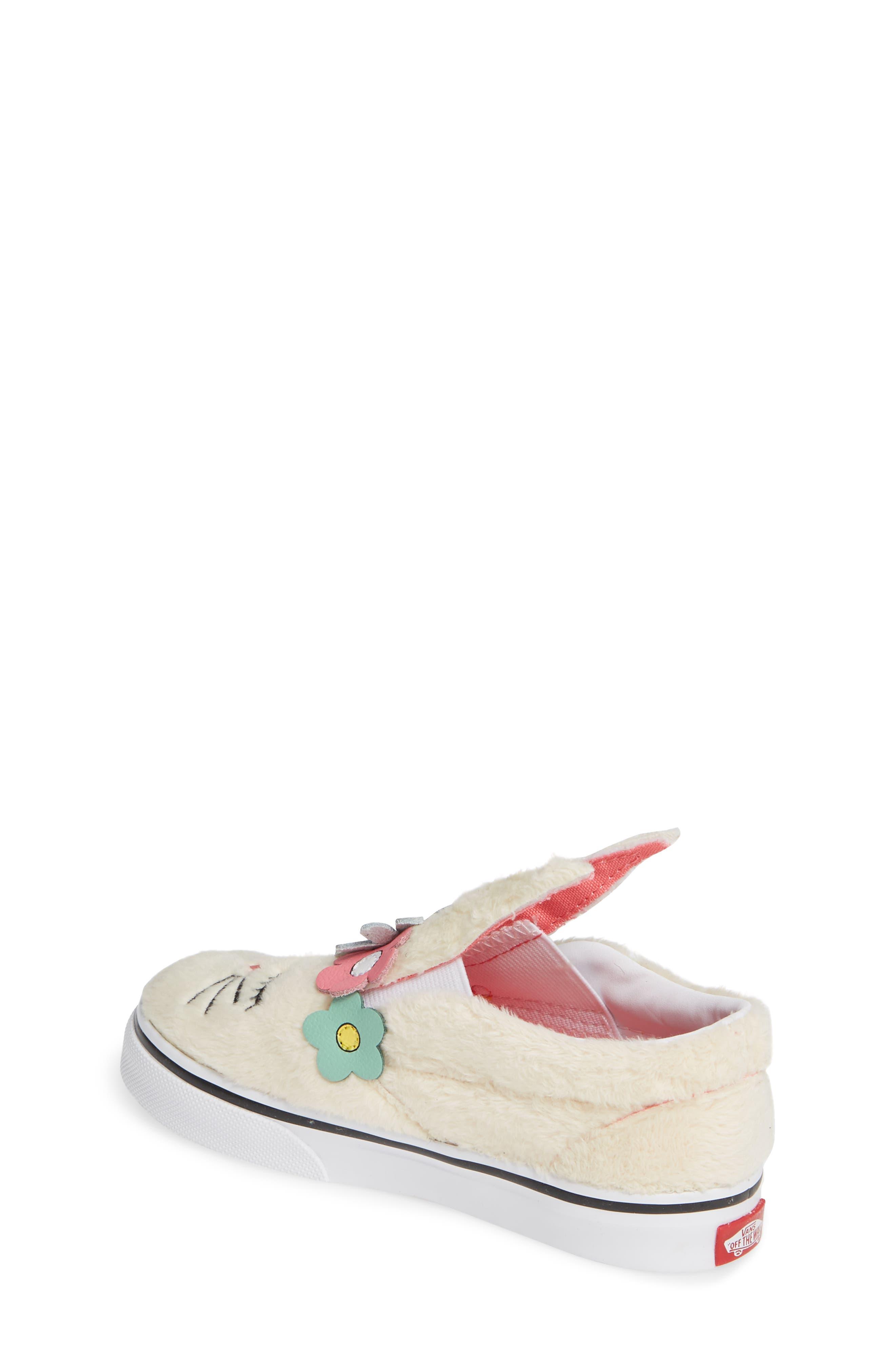 VANS, Slip-On Bunny Sneaker, Alternate thumbnail 2, color, VANILLA CUSTARD