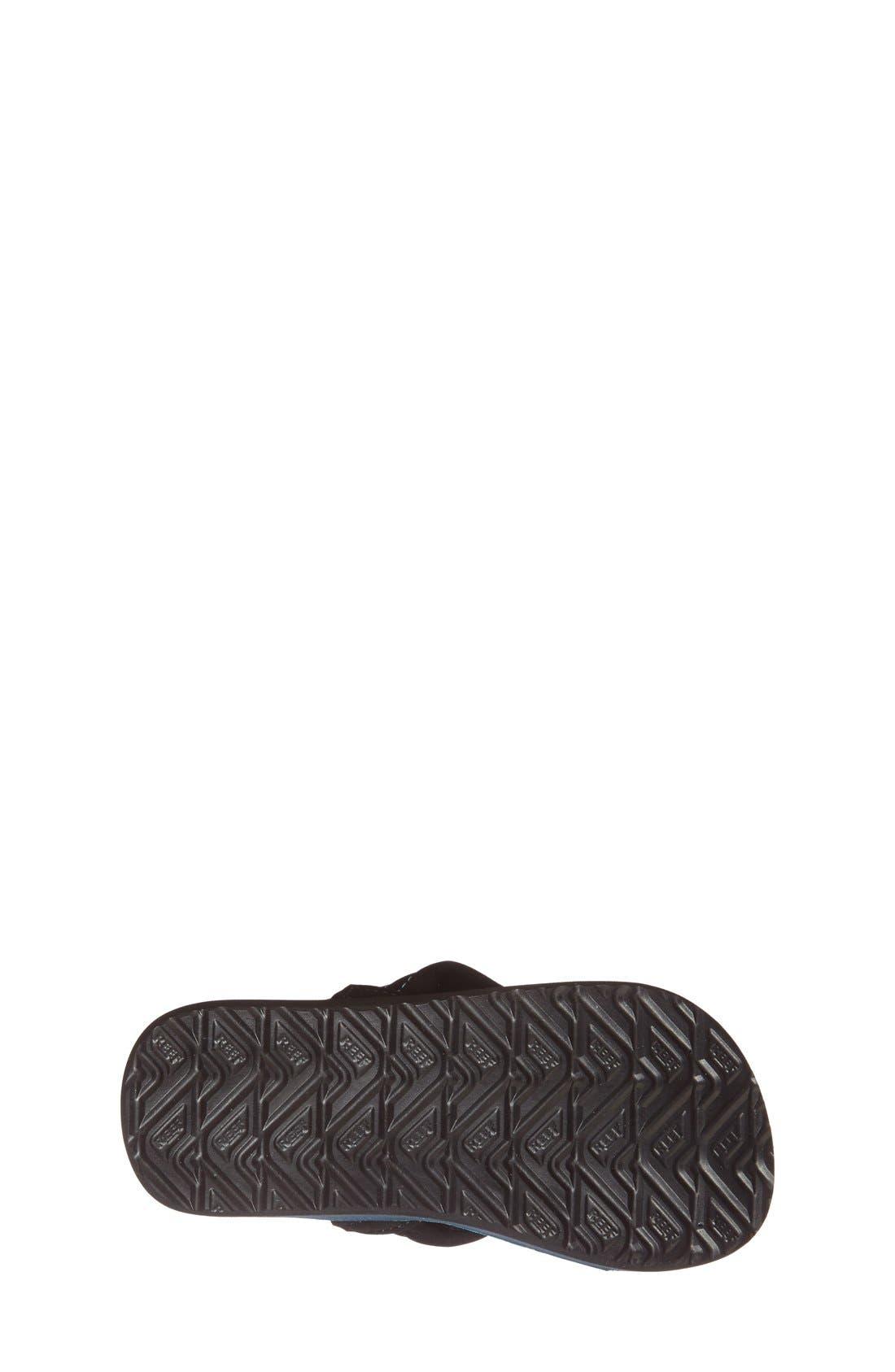 REEF, 'Ahi - Stripes' Sandal, Alternate thumbnail 3, color, AQUA/ GREEN