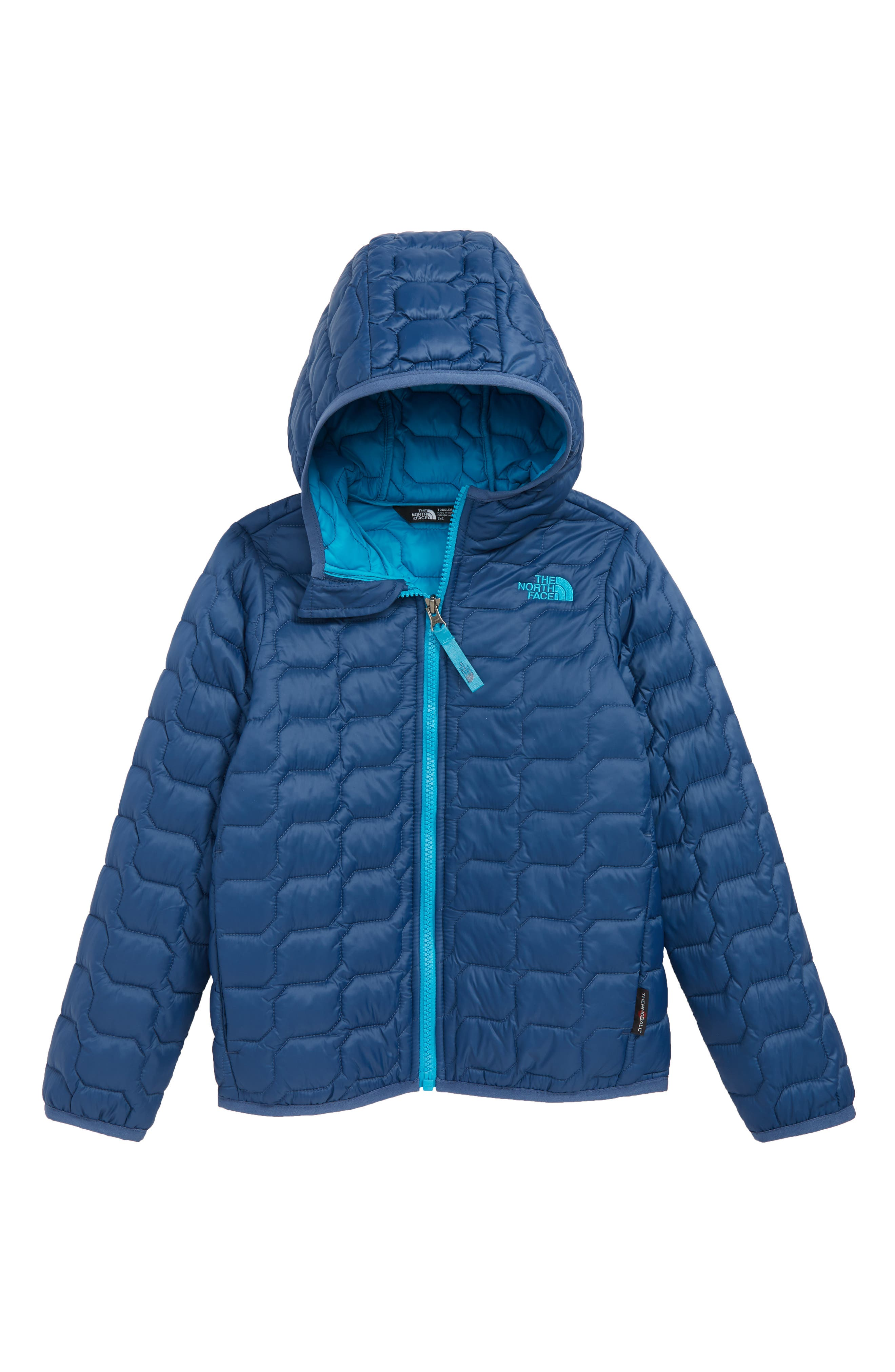 Boys The North Face Thermoball(TM) Hooded Coat Size 6  Blue