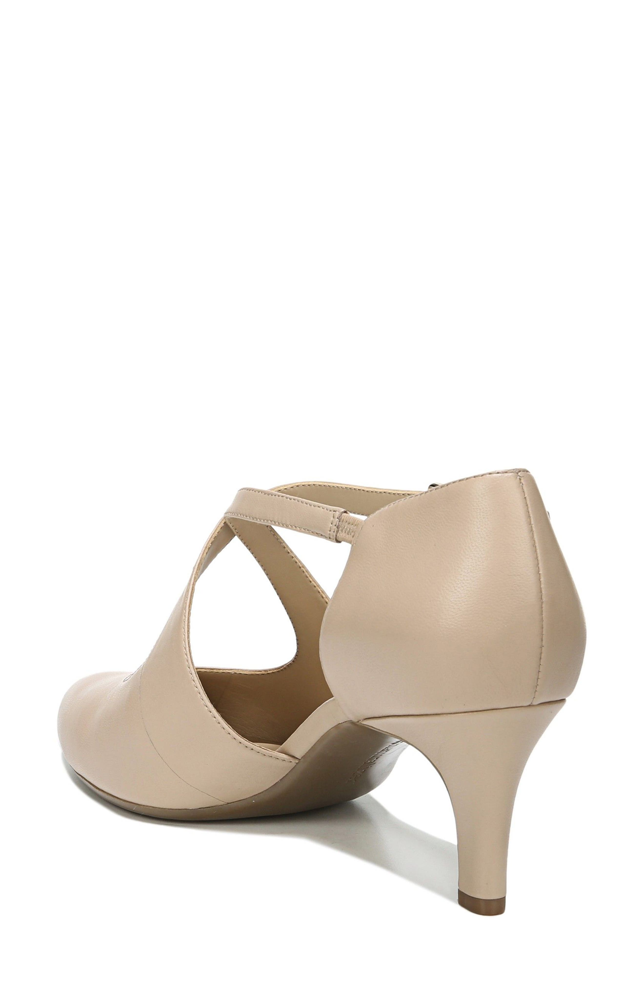 NATURALIZER, Okira Crisscross Pump, Alternate thumbnail 2, color, TAUPE LEATHER