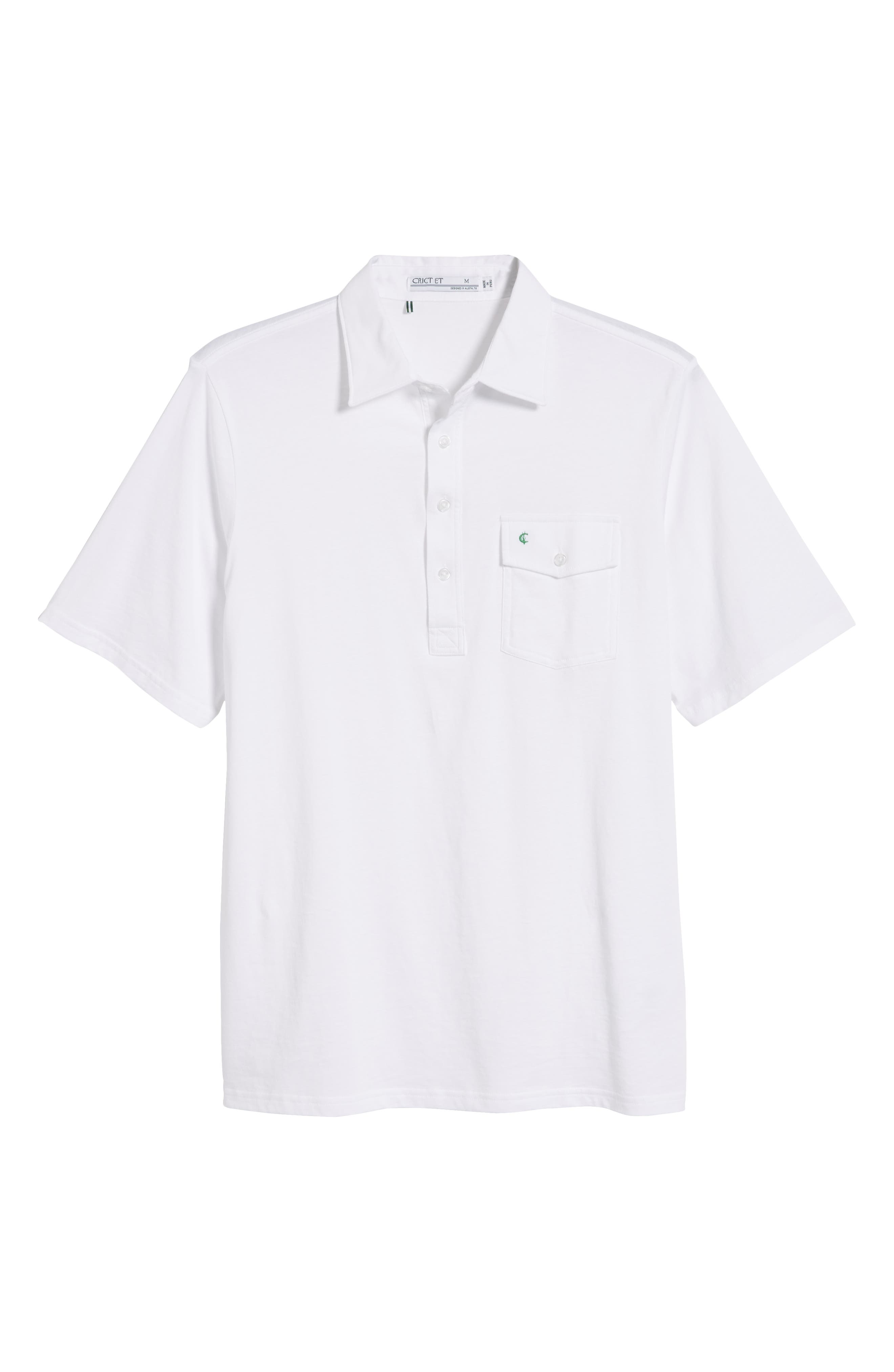 CRIQUET, Regular Fit Players Jersey Polo, Alternate thumbnail 6, color, WHITE