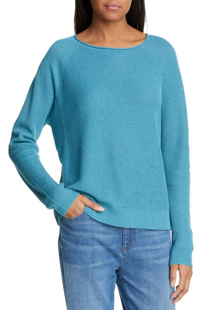 Eileen Fisher Sweaters ORGANIC LINEN & COTTON SWEATER