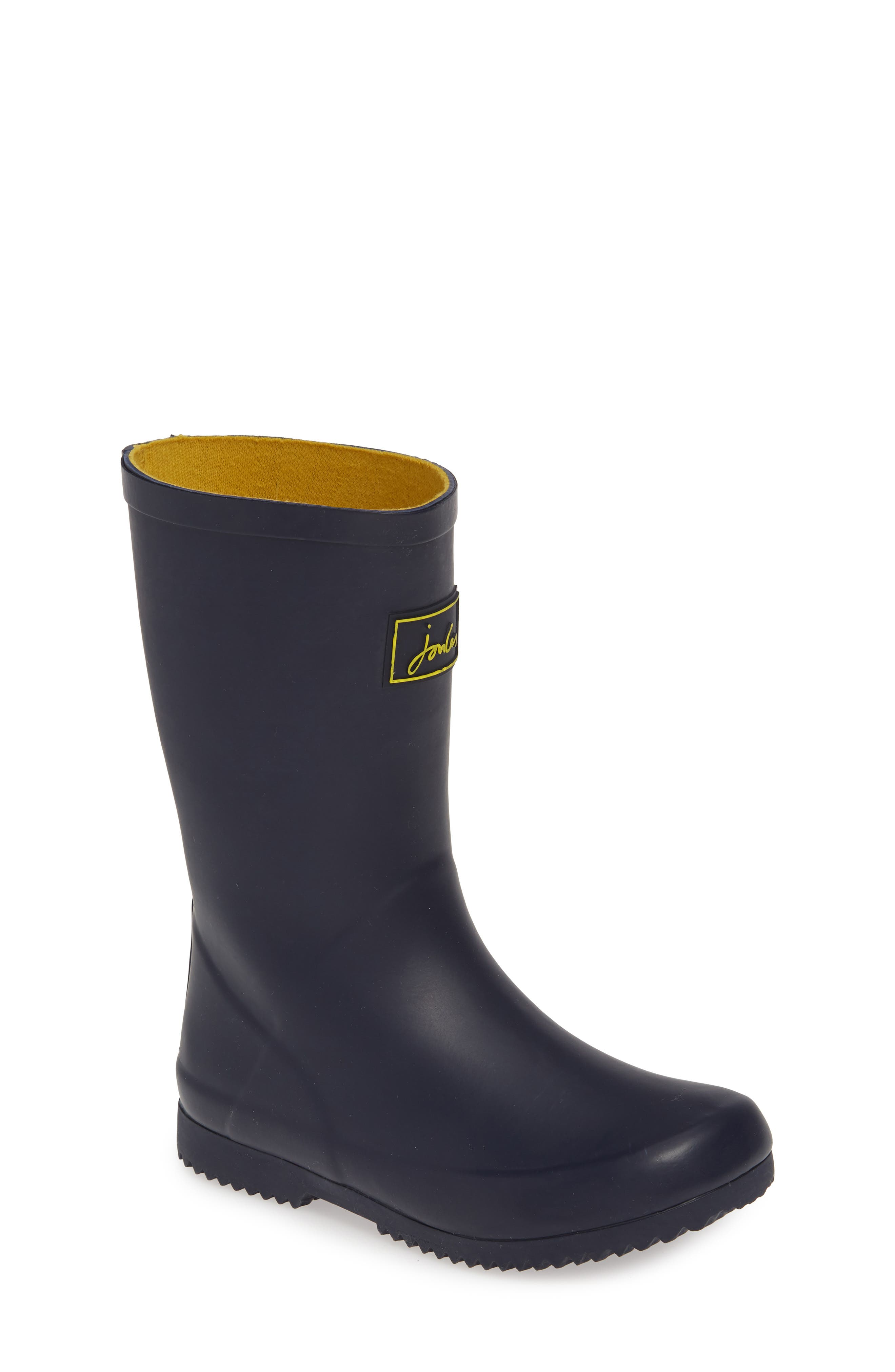 JOULES Roll Up Waterproof Rain Boot, Main, color, FRENCH NAVY