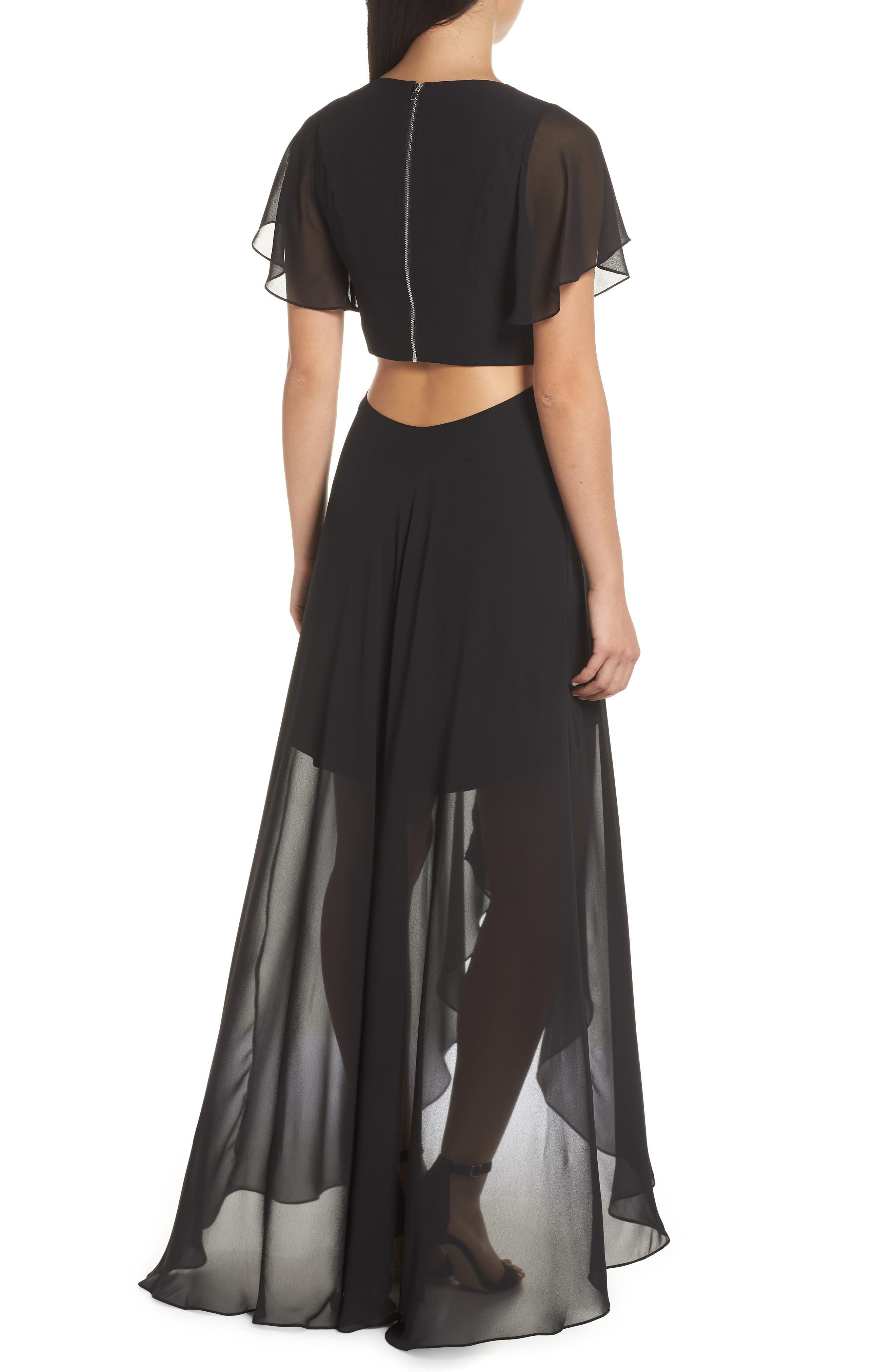ALI & JAY, Cutout Maxi Dress, Alternate thumbnail 2, color, BLACK