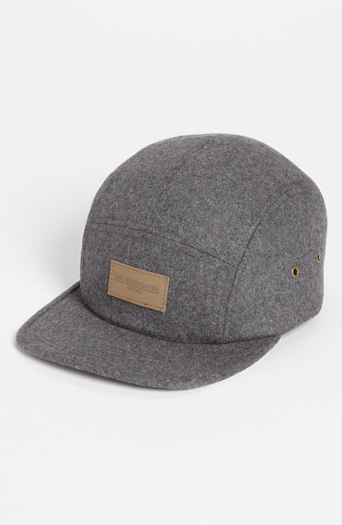 OBEY, 'Northern' Wool Cap, Main thumbnail 1, color, 020