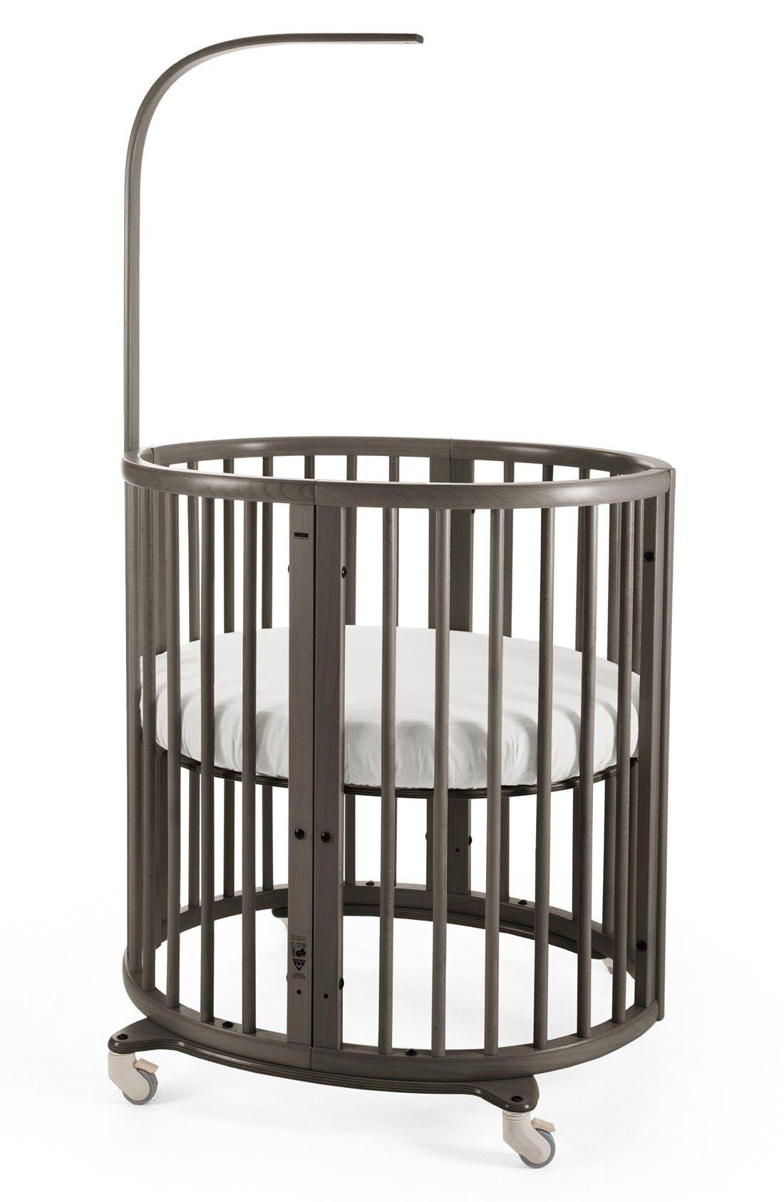 STOKKE Sleepi Mini Crib, Drape Rod & Mattress Bundle, Main, color, 030