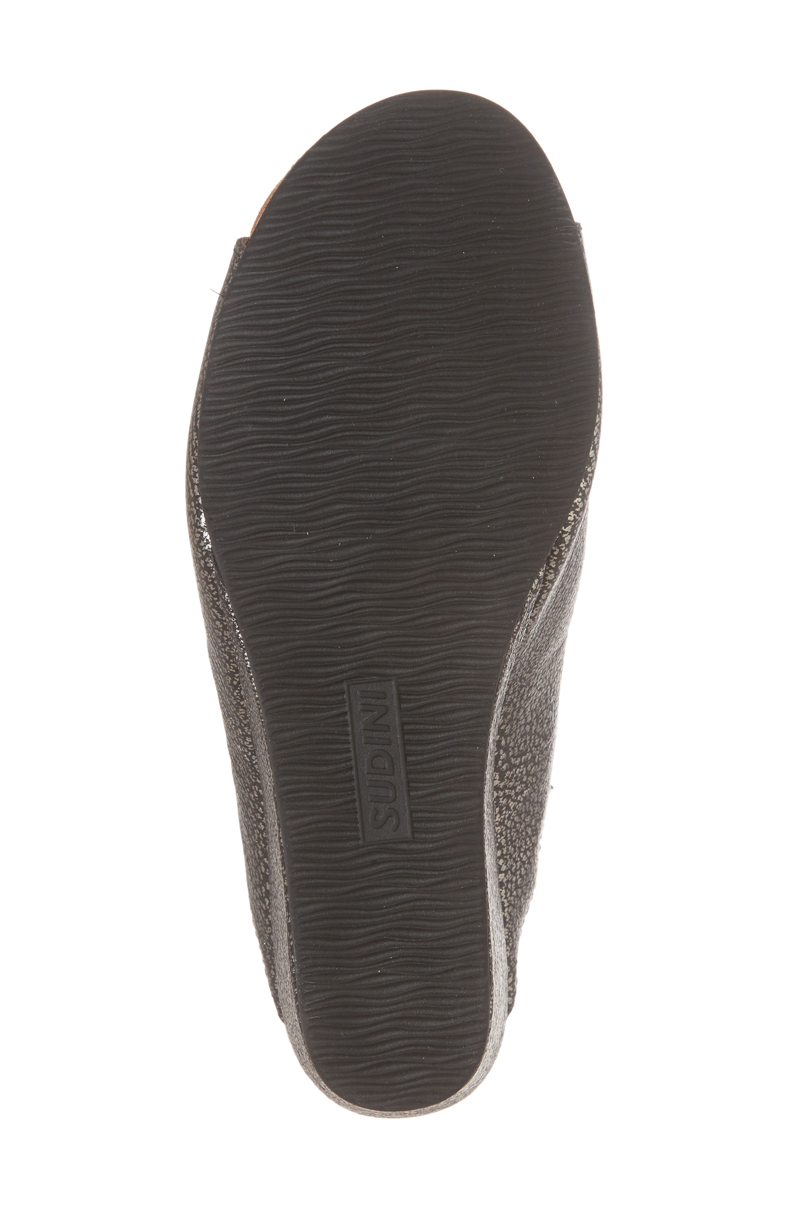 SUDINI, 'Bailey' Suede Wedge, Alternate thumbnail 6, color, PEWTER LEATHER