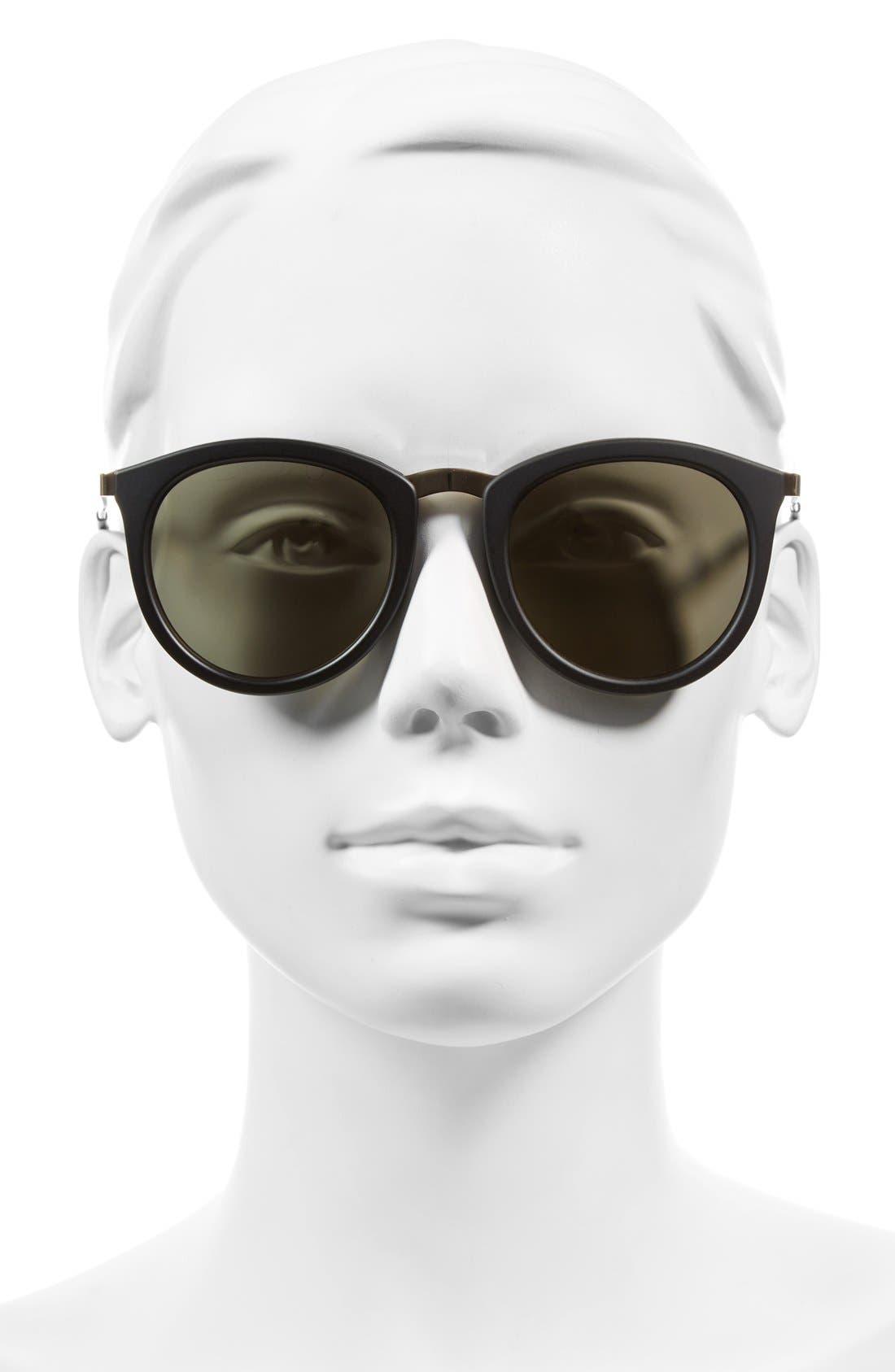 LE SPECS, No Smirking Limited 50mm Sunglasses, Alternate thumbnail 2, color, MATTE BLACK