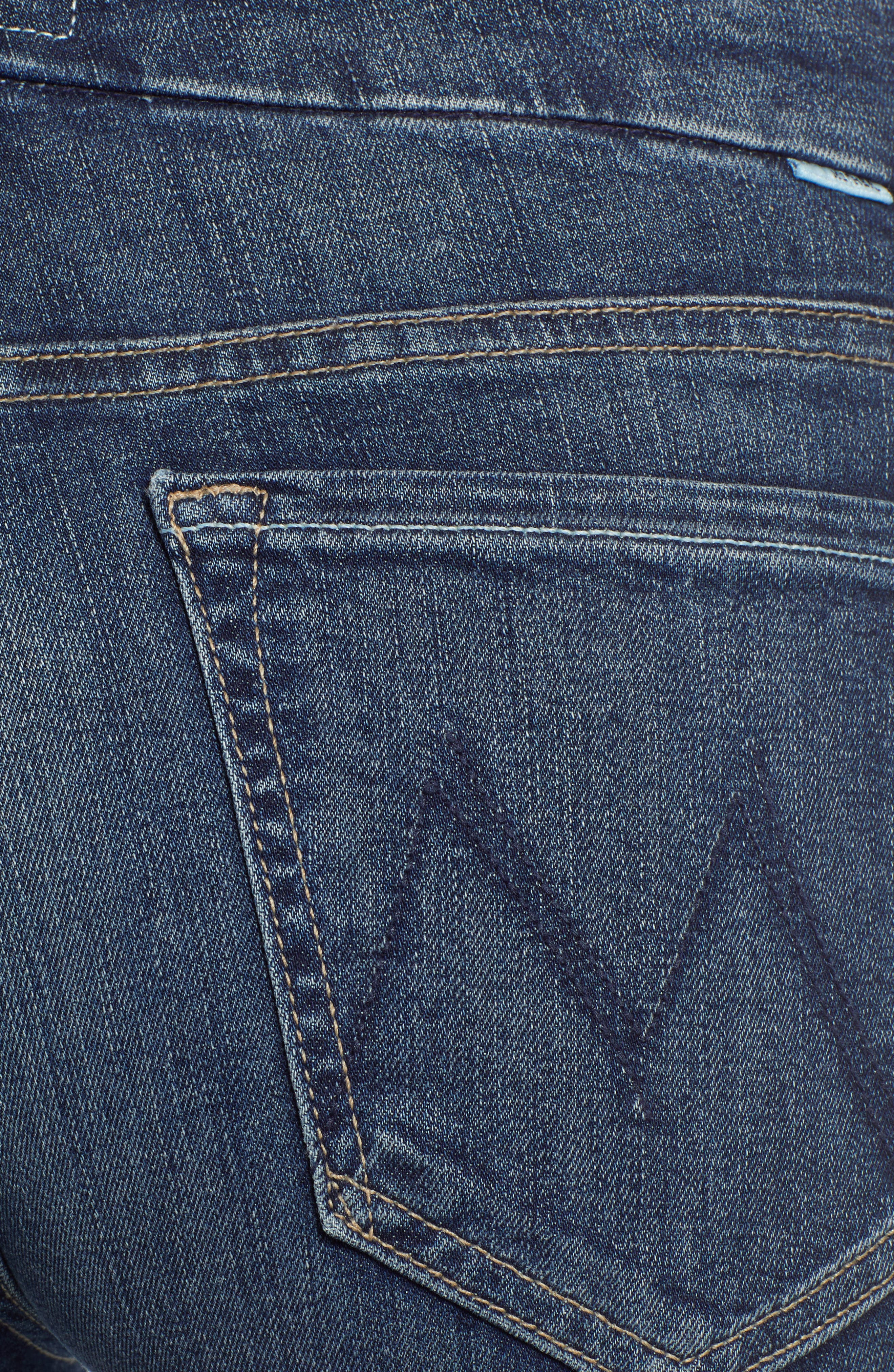 MOTHER, 'The Looker' Crop Skinny Jeans, Alternate thumbnail 6, color, ON THE EDGE