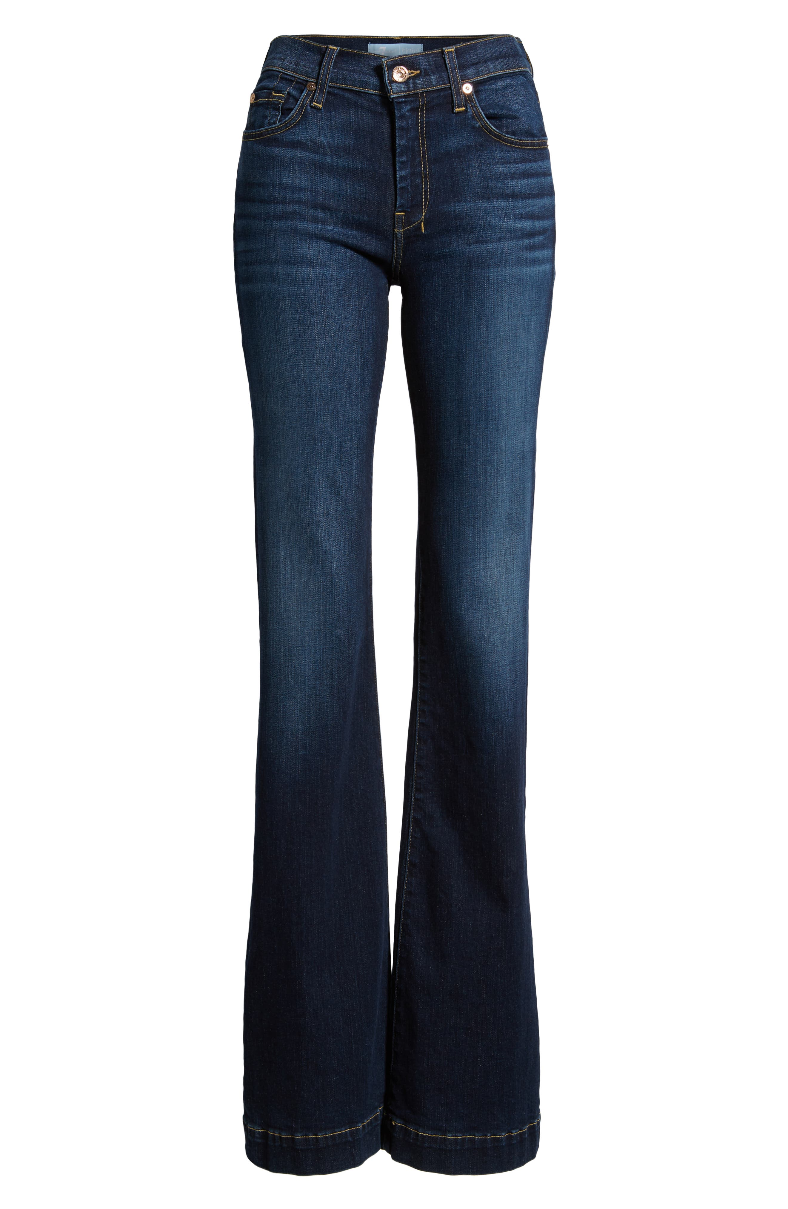 7 FOR ALL MANKIND<SUP>®</SUP>, Dojo Wide Leg Jeans, Alternate thumbnail 7, color, AUTHENTIC FATE