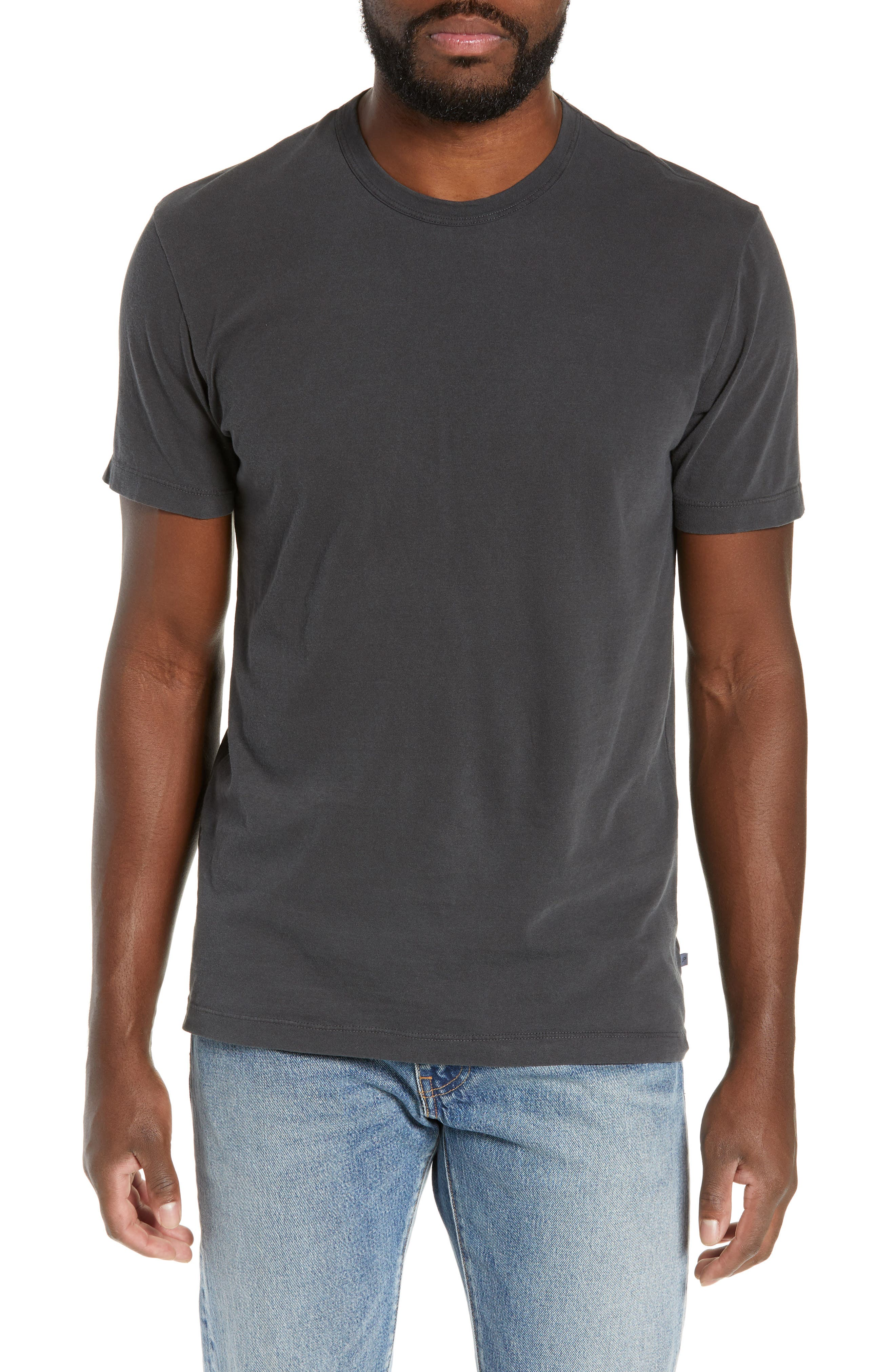 JAMES PERSE, Regular Fit Tonal Palms Crewneck Shirt, Main thumbnail 1, color, 020