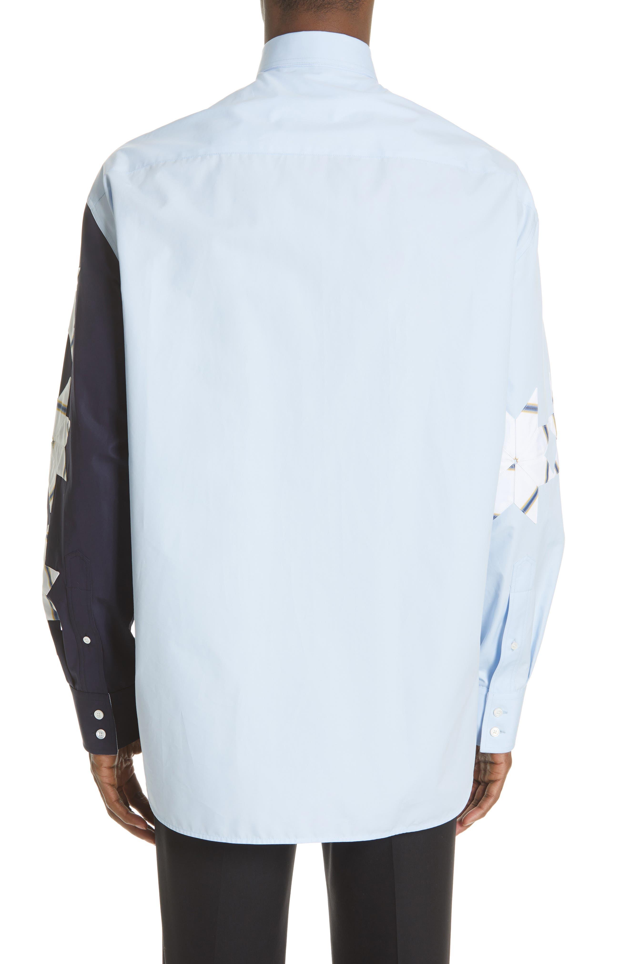 CALVIN KLEIN 205W39NYC, Pinwheel Sport Shirt, Alternate thumbnail 3, color, LIGHT SKY MARINE