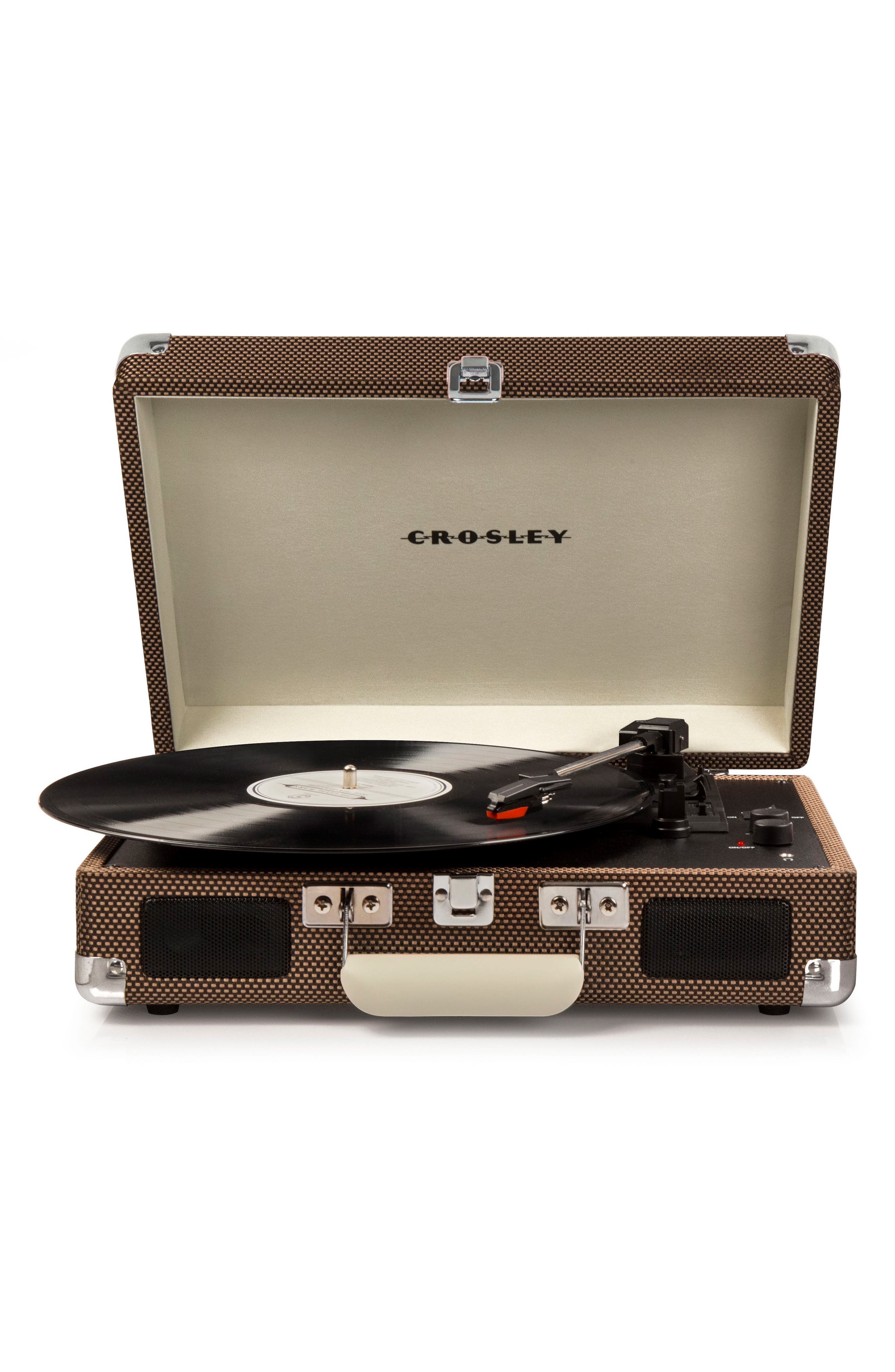 CROSLEY RADIO Cruiser Deluxe Turntable, Main, color, TWEED