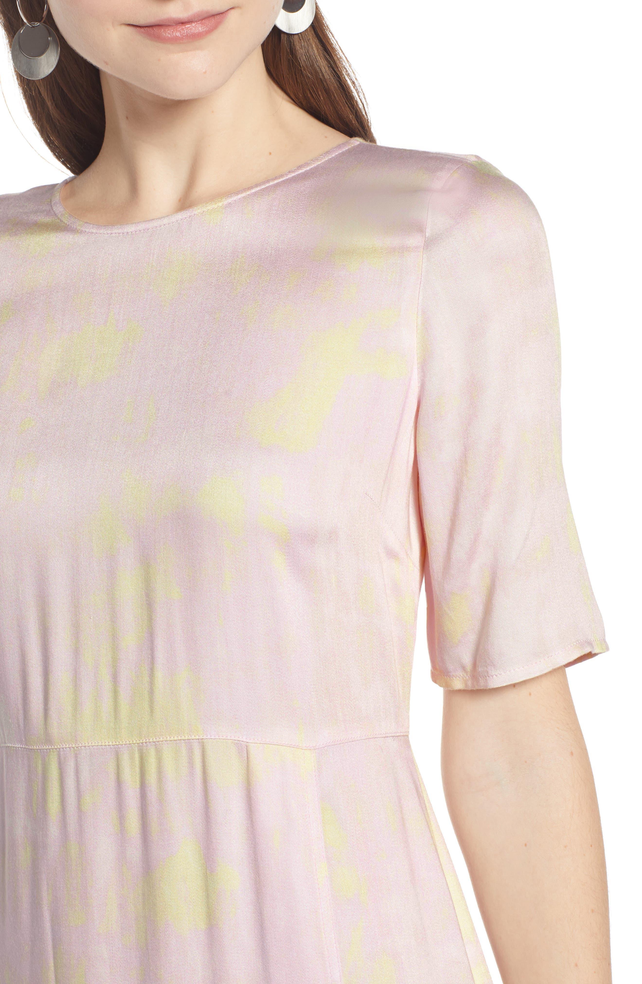 SOMETHING NAVY, Front Slit Midi Dress, Alternate thumbnail 6, color, 680