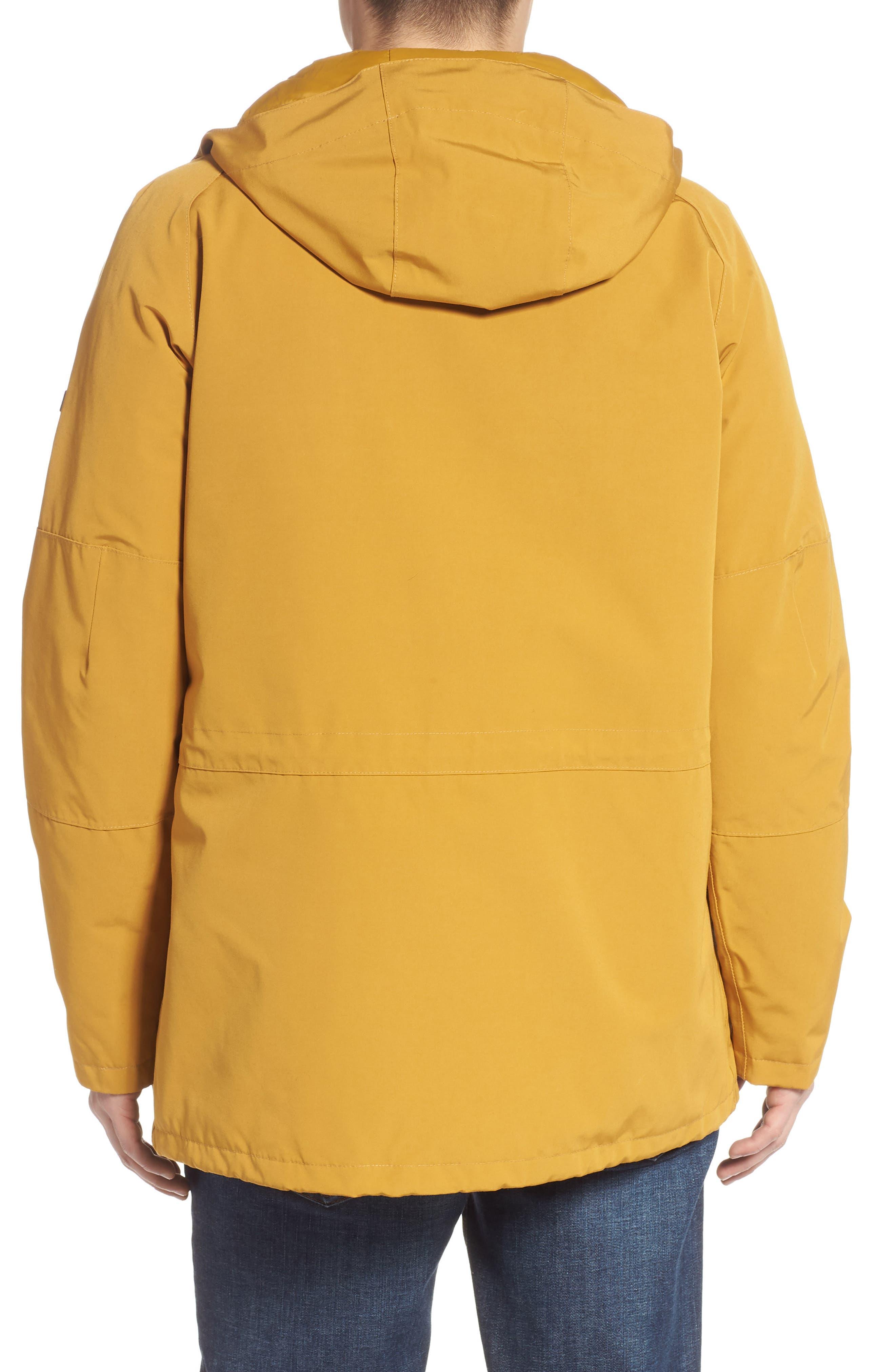BARBOUR, Bi-Ridge Waterproof Hooded Jacket, Alternate thumbnail 2, color, YELLOW