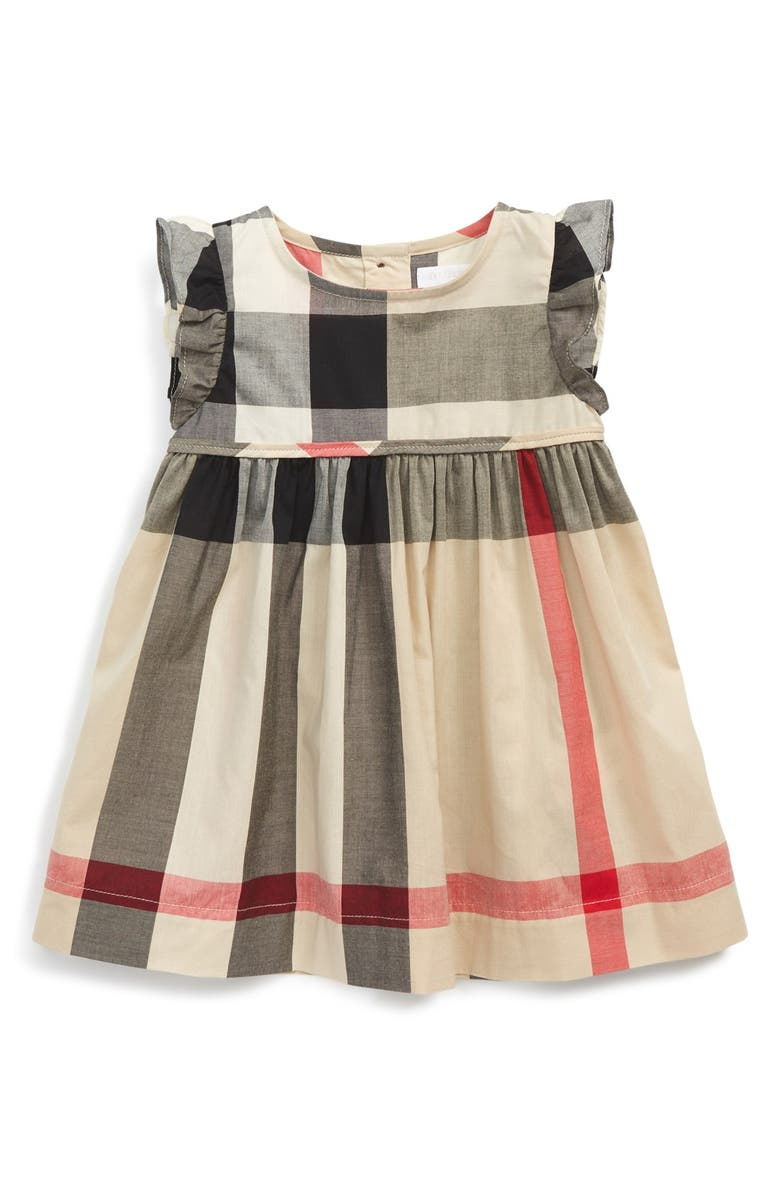 dab5e7dad76 Burberry 'Amanda' Check Print Cotton Voile Dress (Baby Girls ...