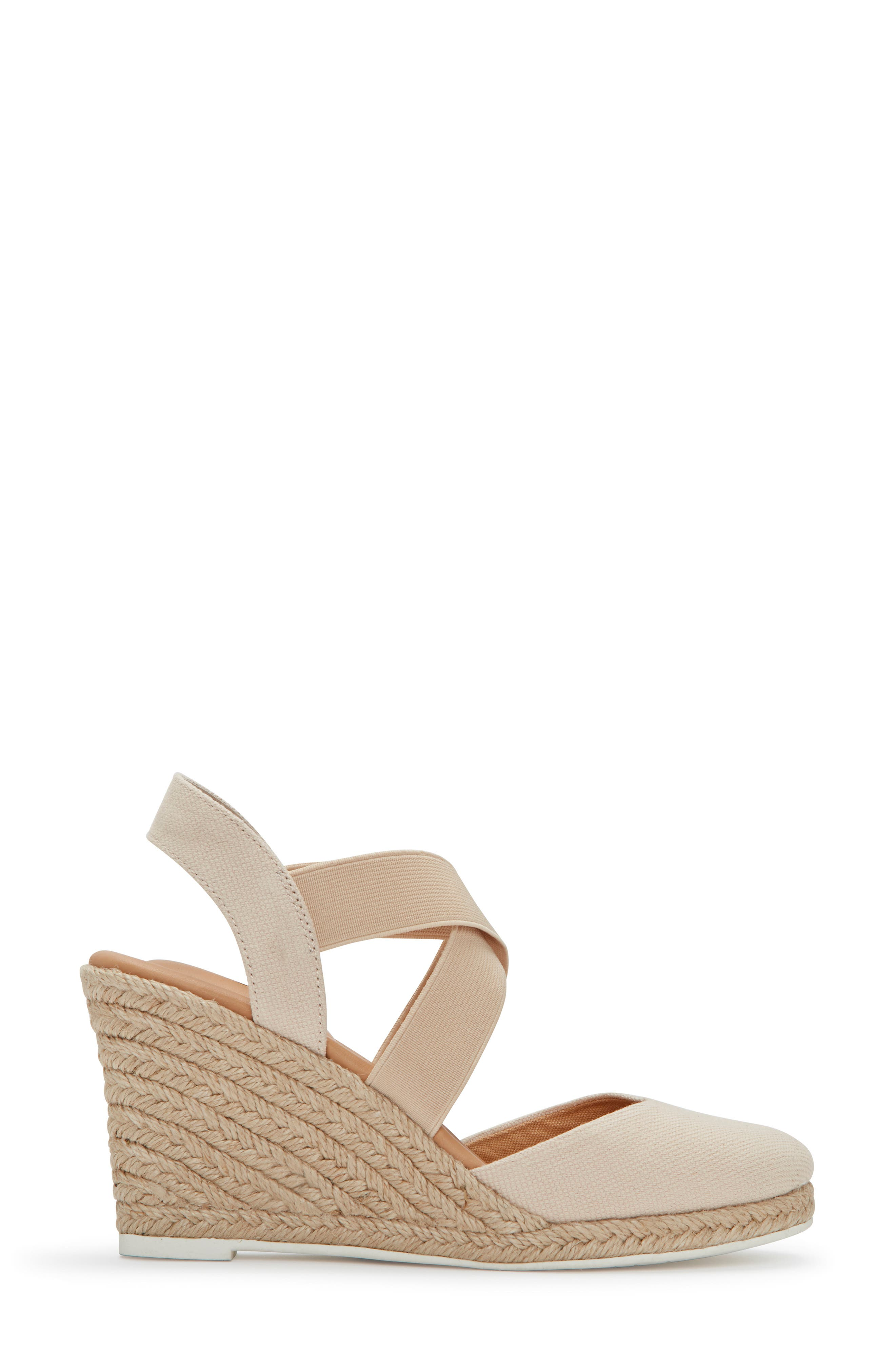 ME TOO, Brinley Espadrille Wedge, Alternate thumbnail 3, color, NATURAL CANVAS