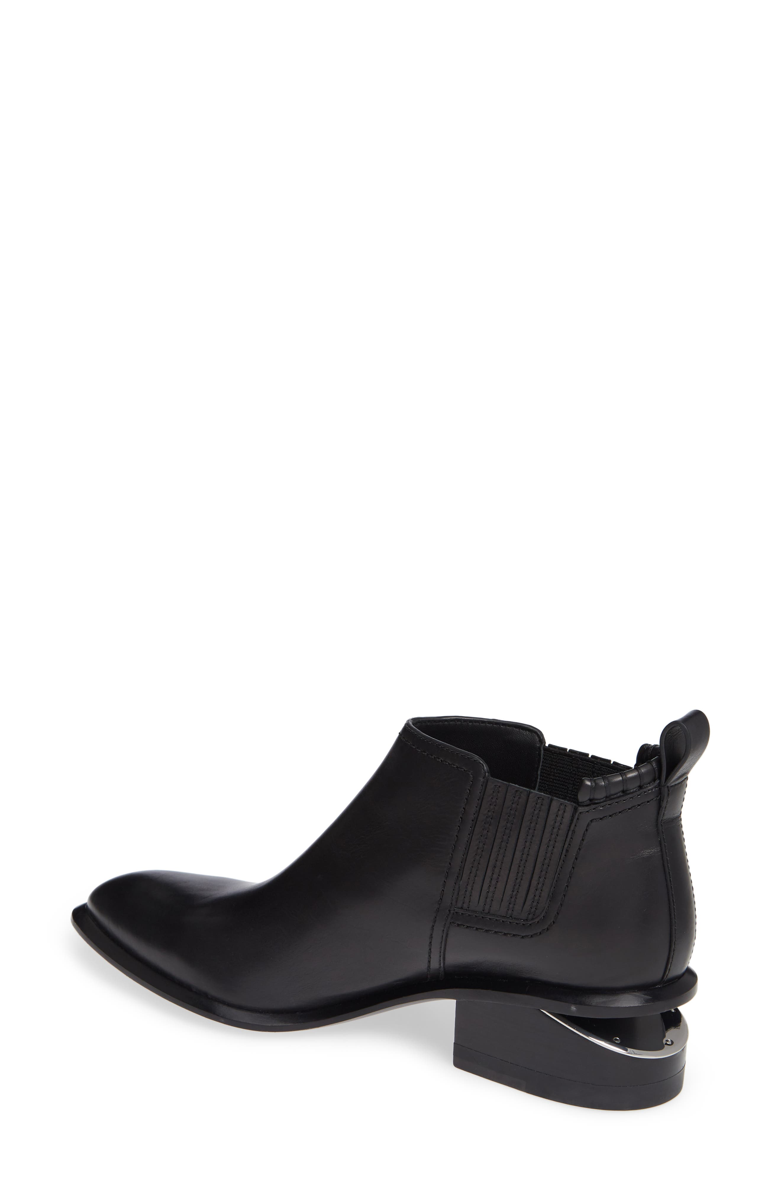 ALEXANDER WANG, Kori Boot, Alternate thumbnail 2, color, BLACK/ SILVER