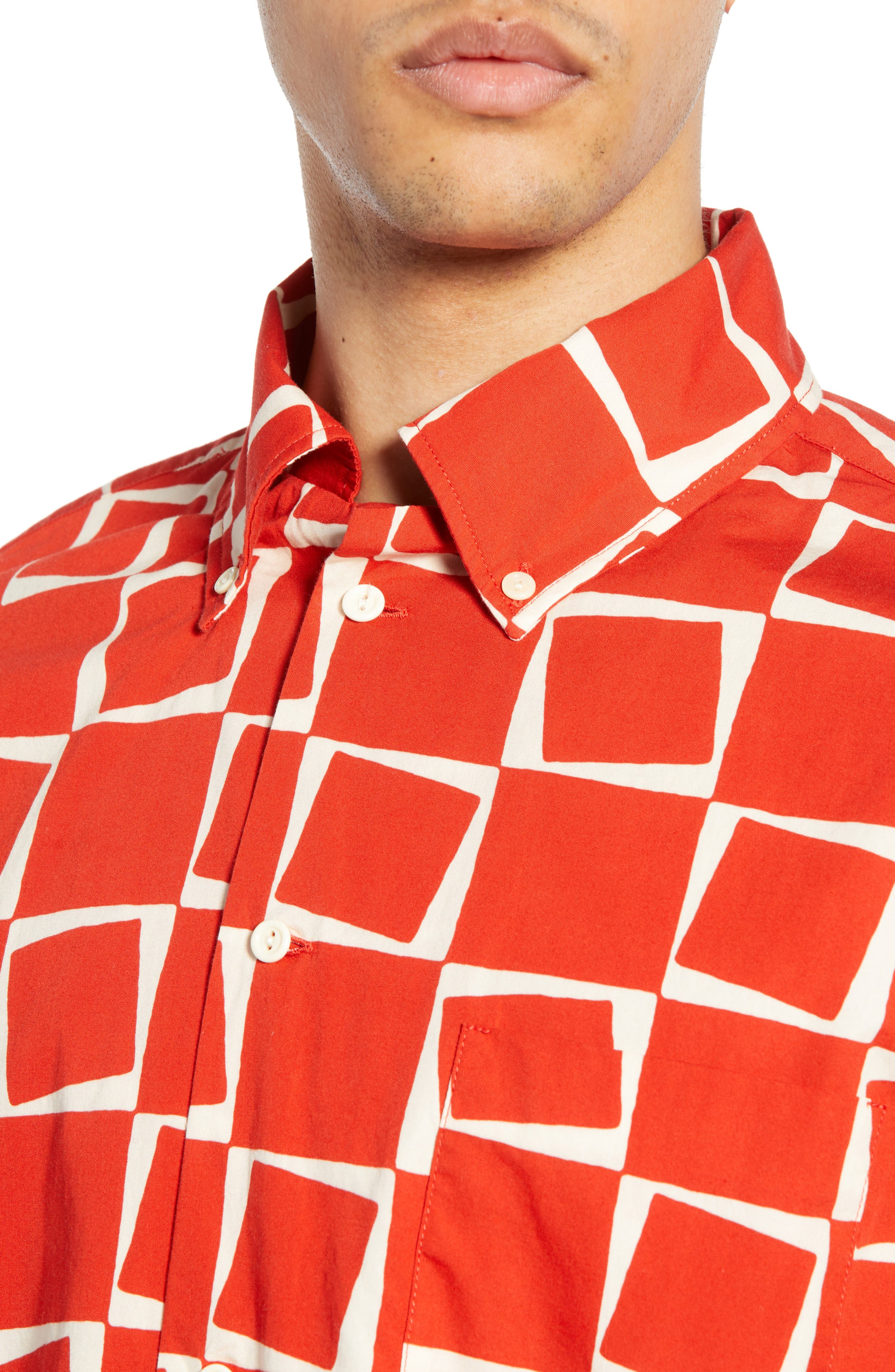 LEVI'S<SUP>®</SUP> VINTAGE CLOTHING, 1950s Regular Atomic Square Woven Shirt, Alternate thumbnail 2, color, 600