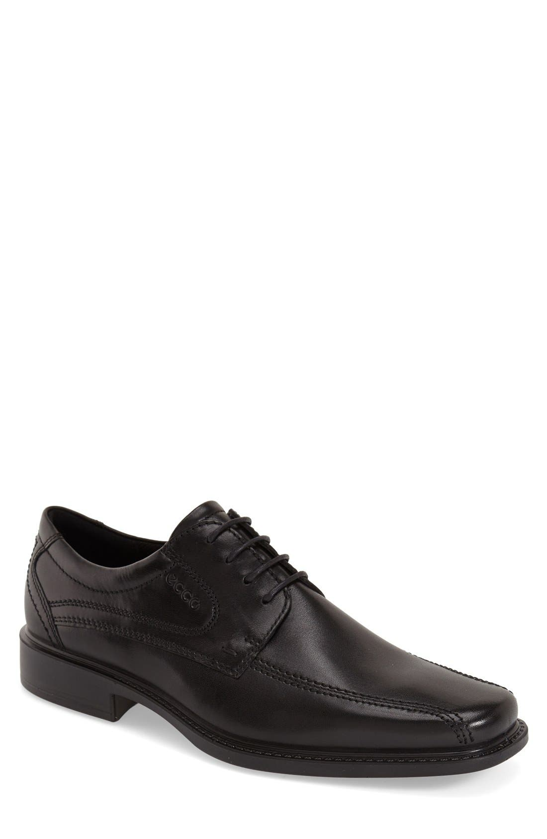 ECCO, 'New Jersey' Bicycle Toe Oxford, Main thumbnail 1, color, BLACK