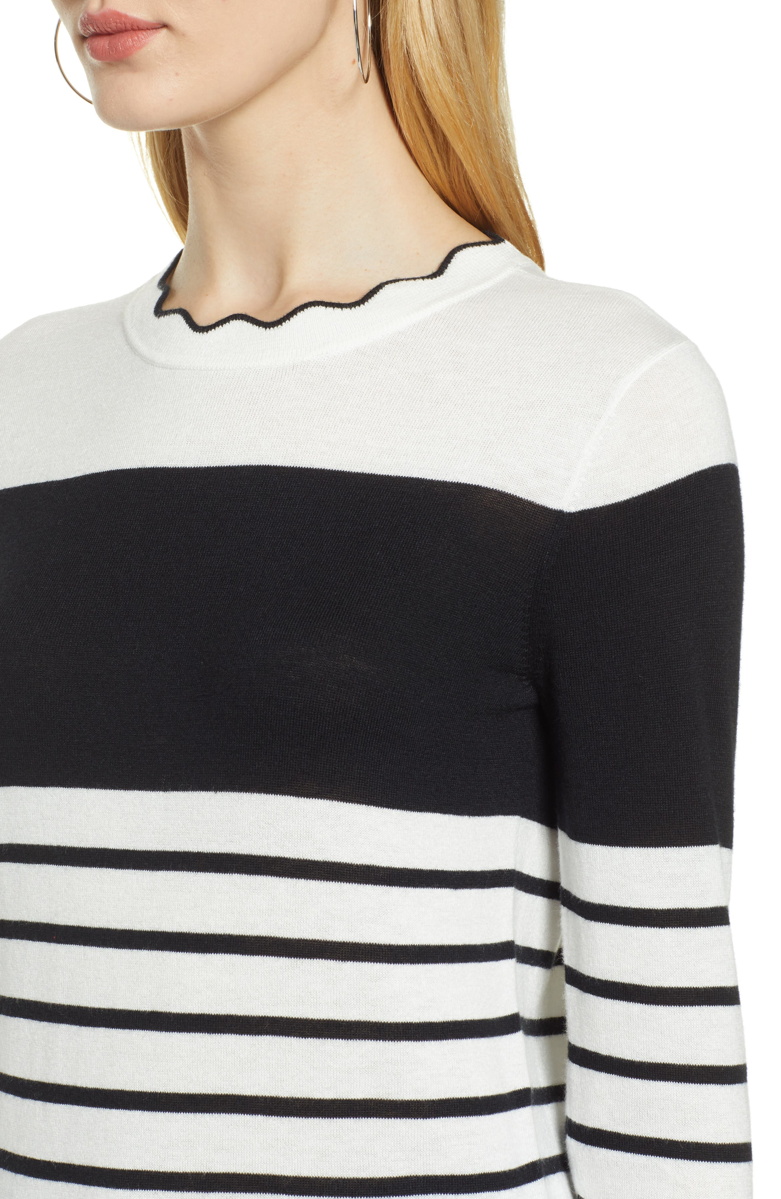 HALOGEN<SUP>®</SUP>, Scallop Neck Sweater, Alternate thumbnail 4, color, 900