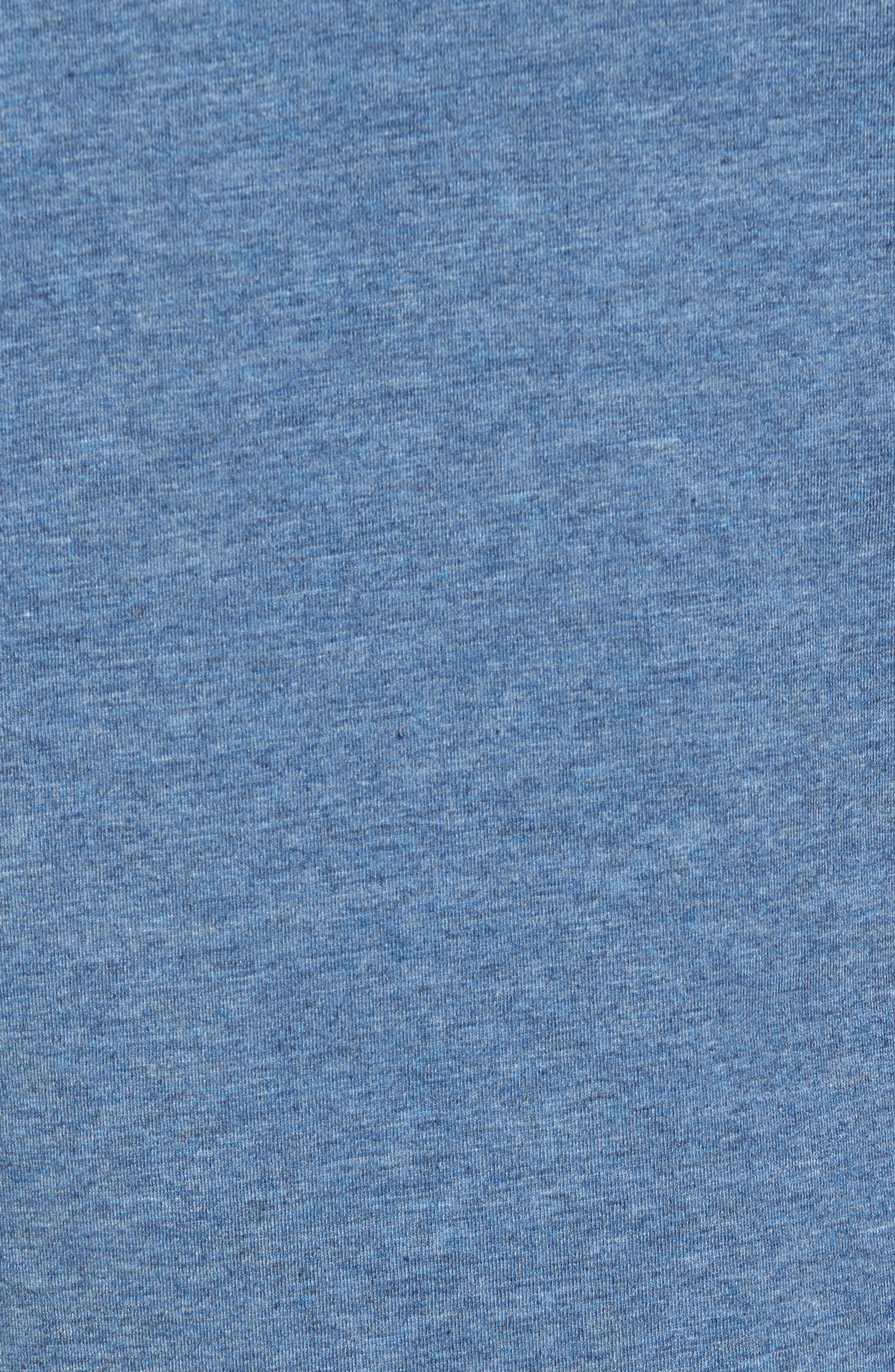 TASC PERFORMANCE, Charge Semi-Fitted T-Shirt, Alternate thumbnail 5, color, INDIGO HEATHER