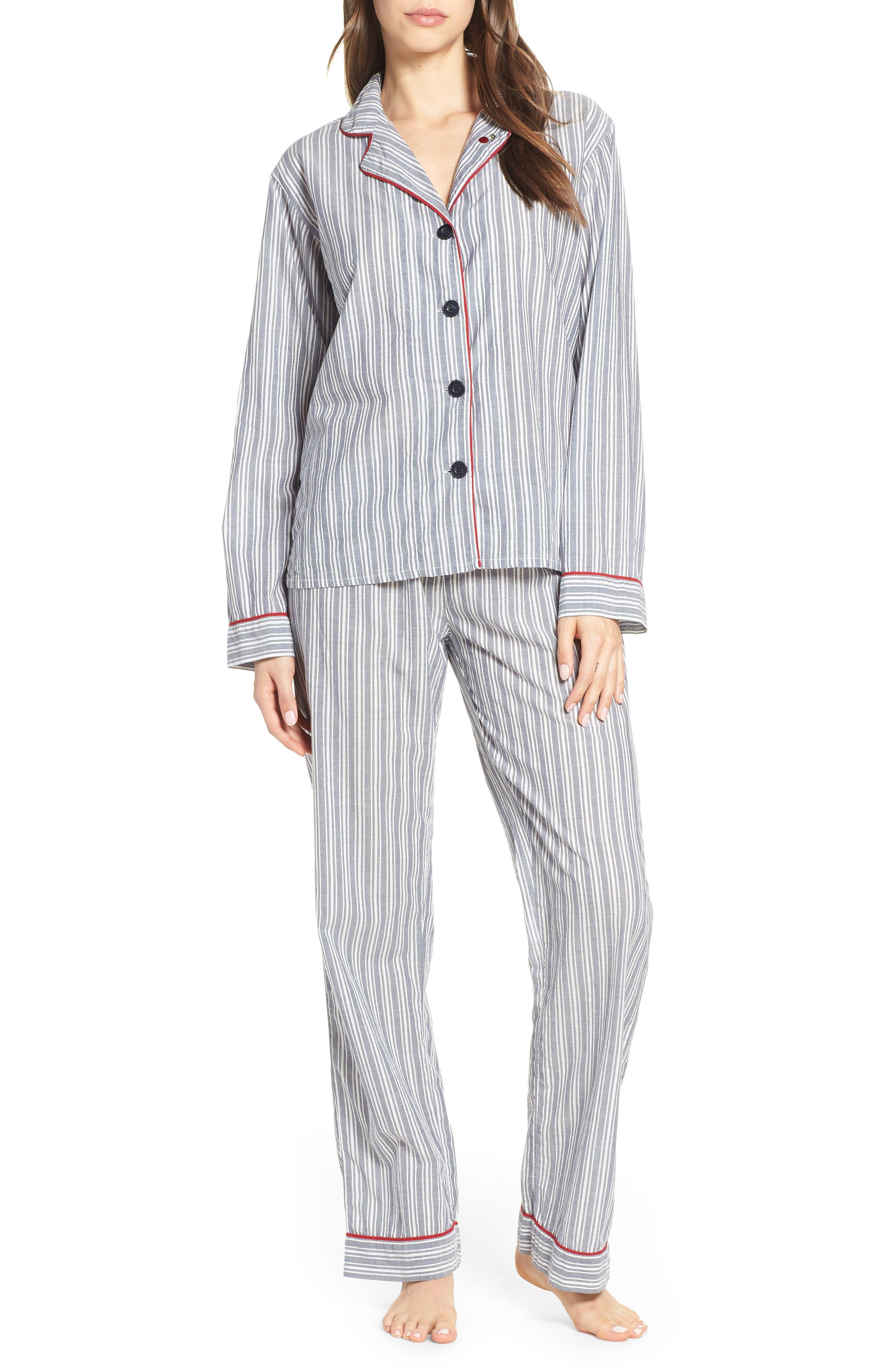 PJ SALVAGE, Mon Cheri Pajamas, Main thumbnail 1, color, DENIM