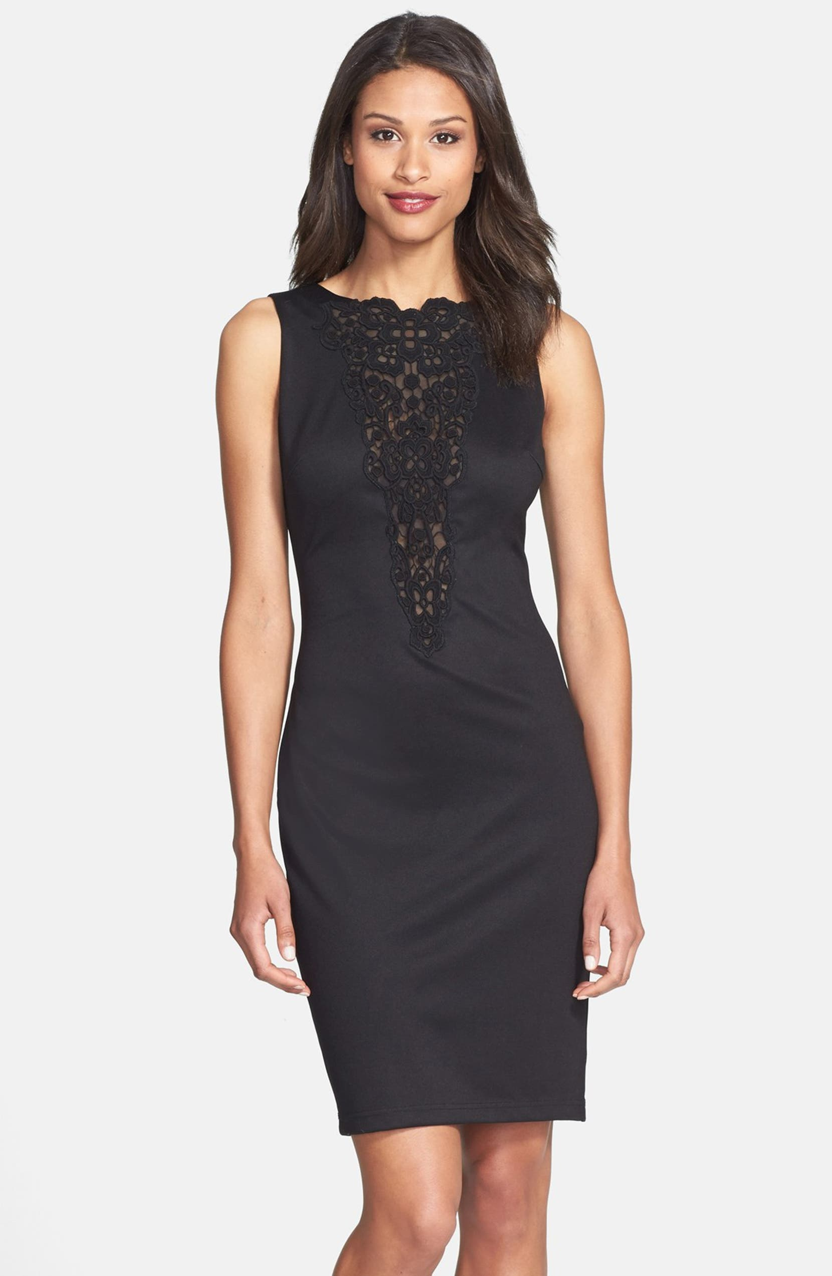 fd294108 Alexia Admor Lace Yoke Knit Sheath Dress | Nordstrom