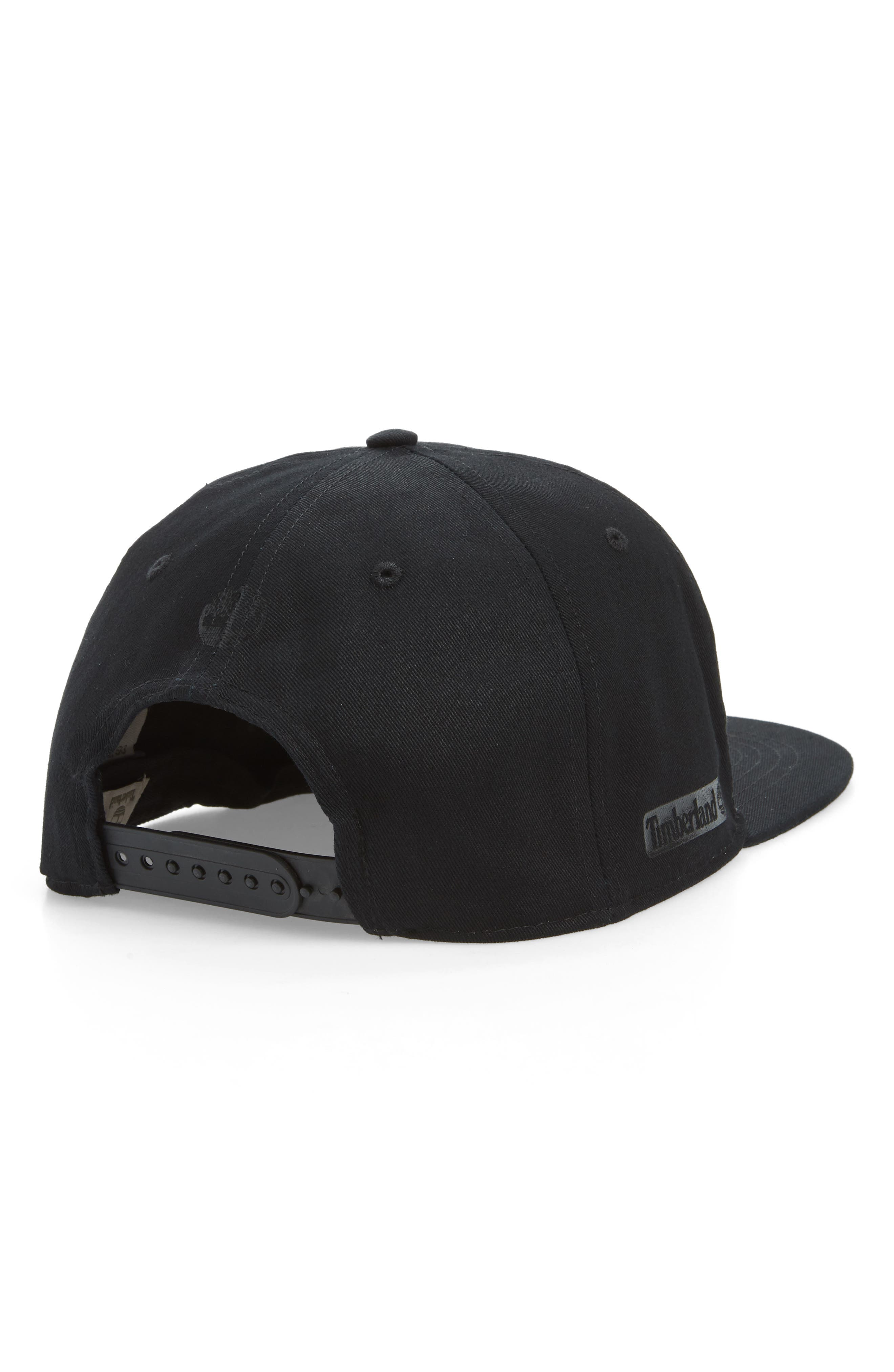 TIMBERLAND, Urban Craft Snapback Baseball Cap, Alternate thumbnail 2, color, BLACK