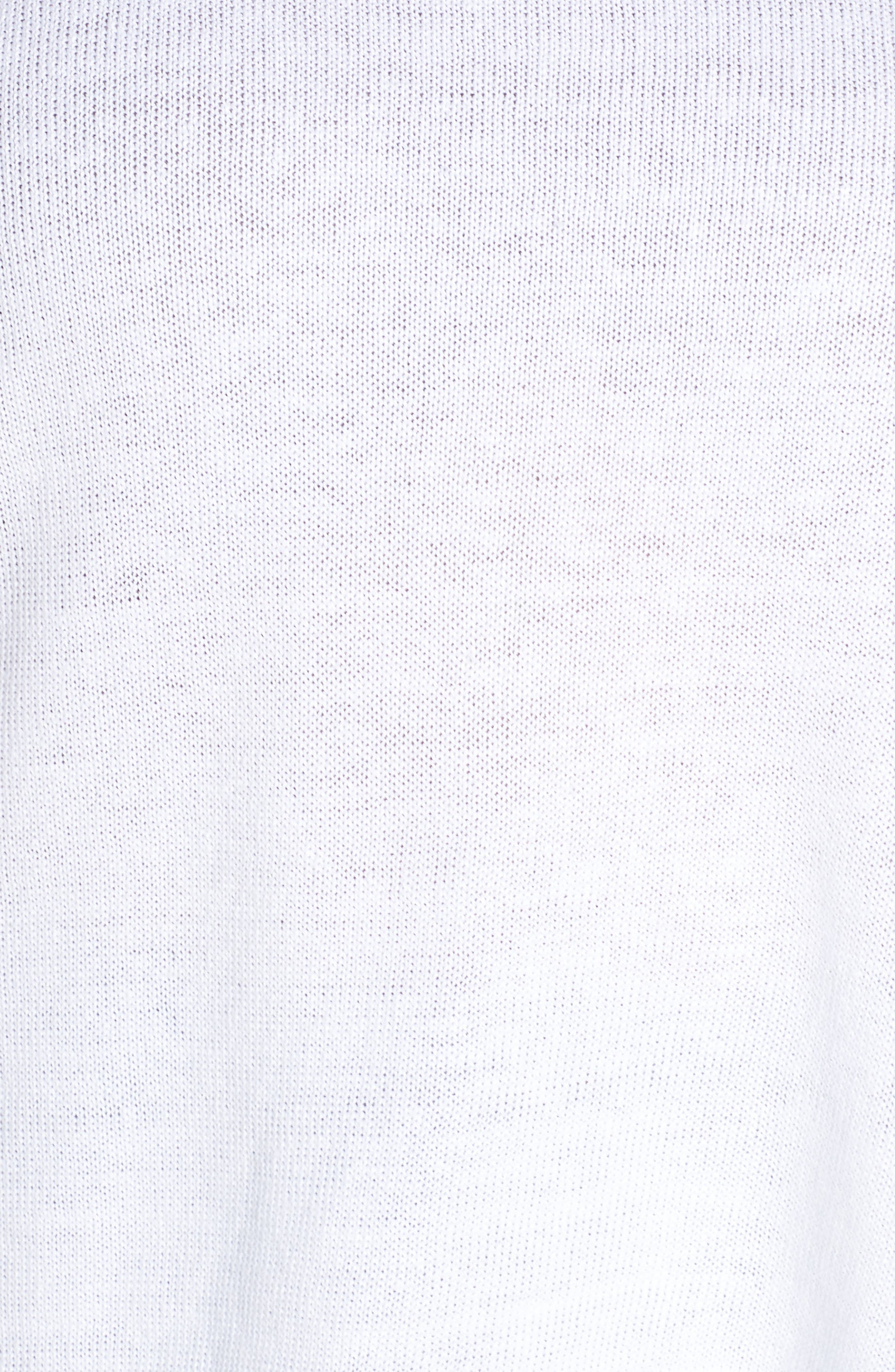 EILEEN FISHER, Round Neck Top, Alternate thumbnail 5, color, WHITE