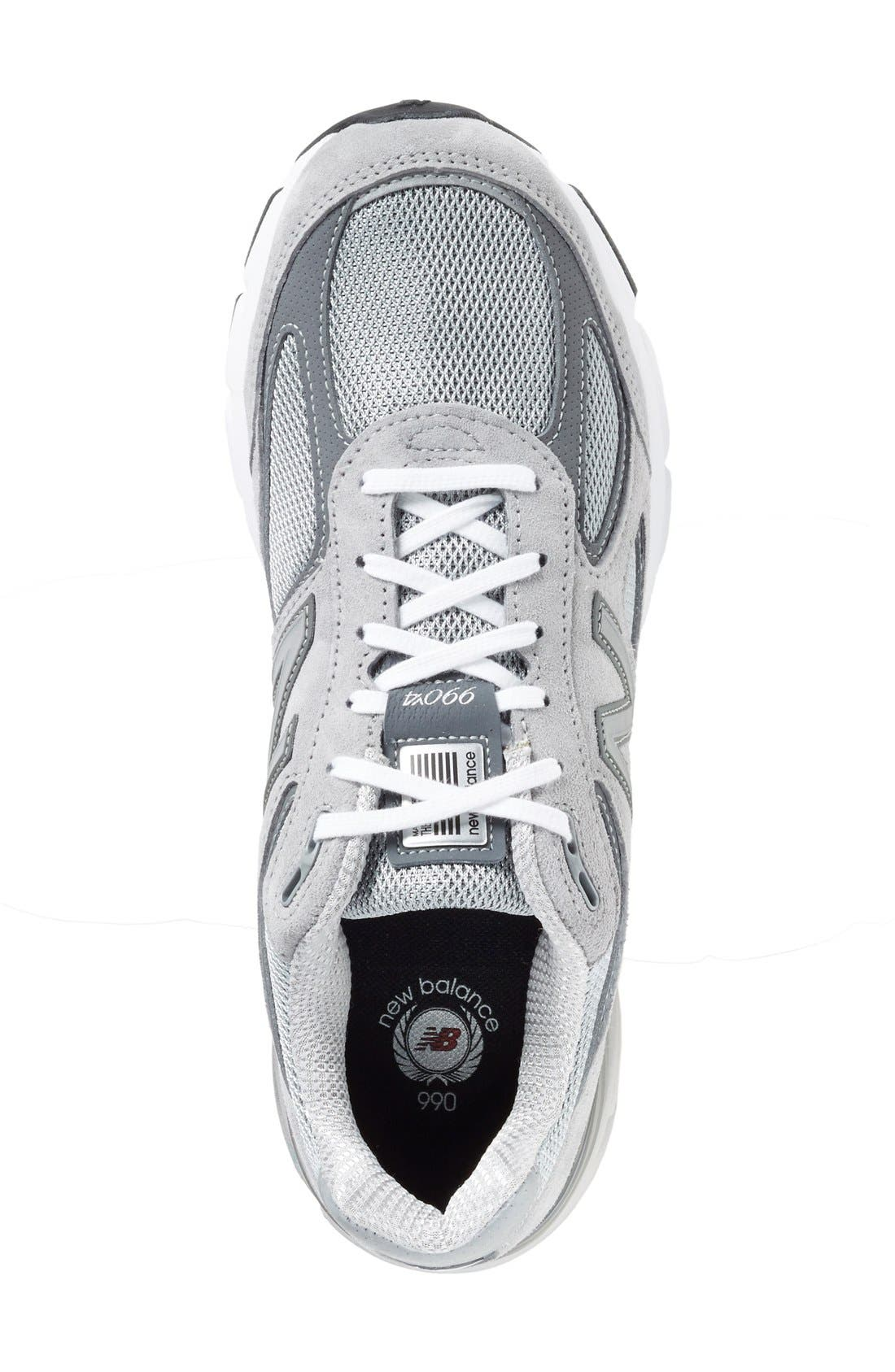 NEW BALANCE, '990' Running Shoe, Alternate thumbnail 3, color, COOL GREY