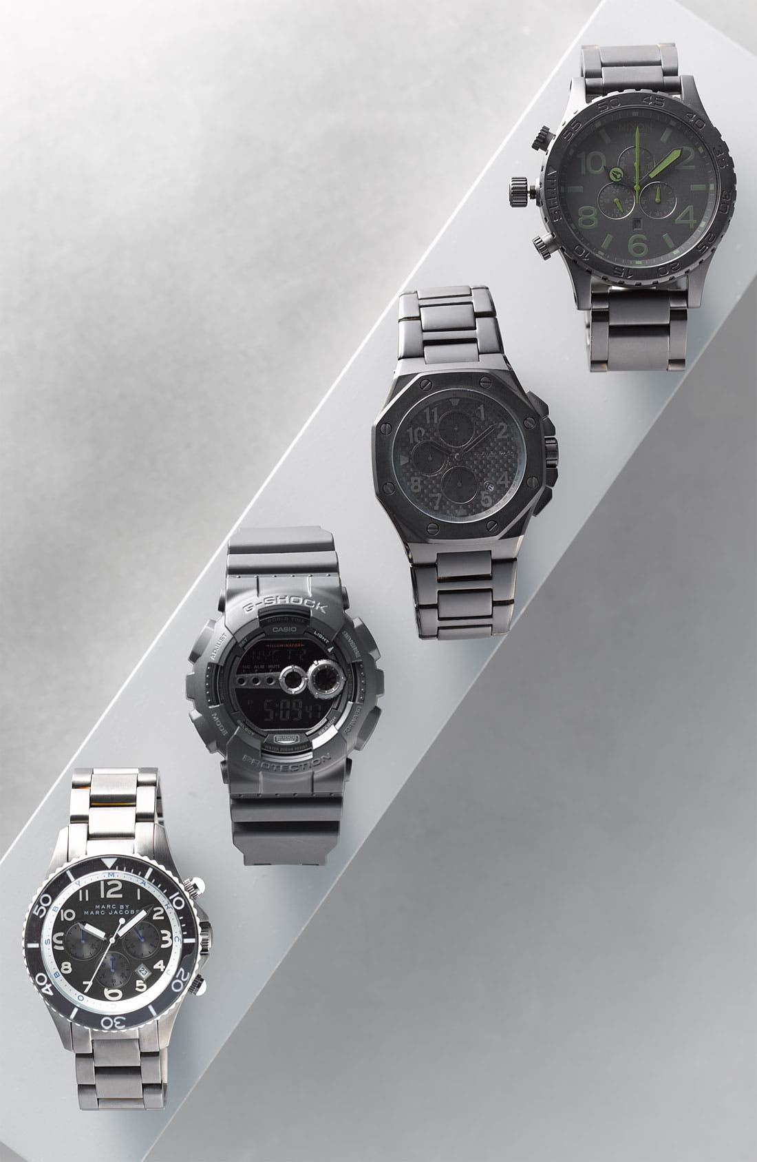G-SHOCK BABY-G, G-Shock 'Super Luminosity' Digital Watch, 48mm, Alternate thumbnail 6, color, BLACK