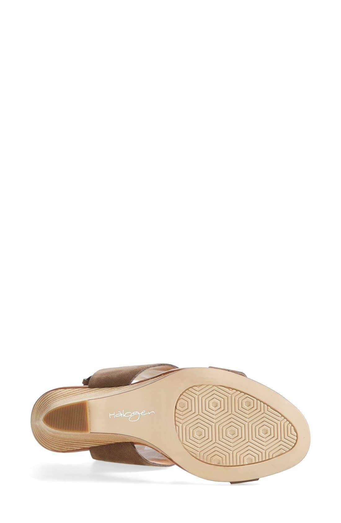 HALOGEN<SUP>®</SUP>, 'Clarette' Wedge Sandal, Alternate thumbnail 4, color, 030