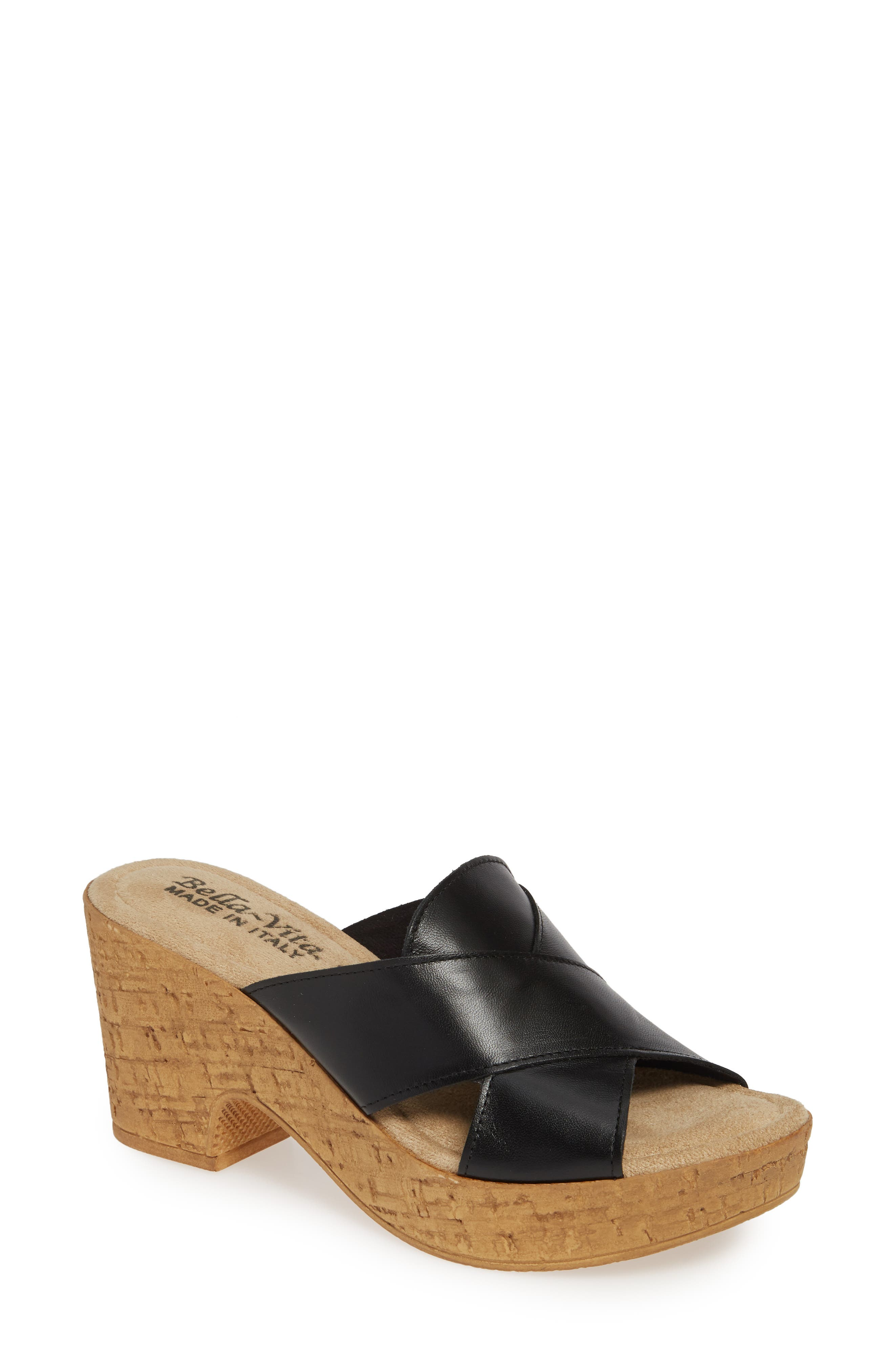 Bella Vita Platform Sandal, Black