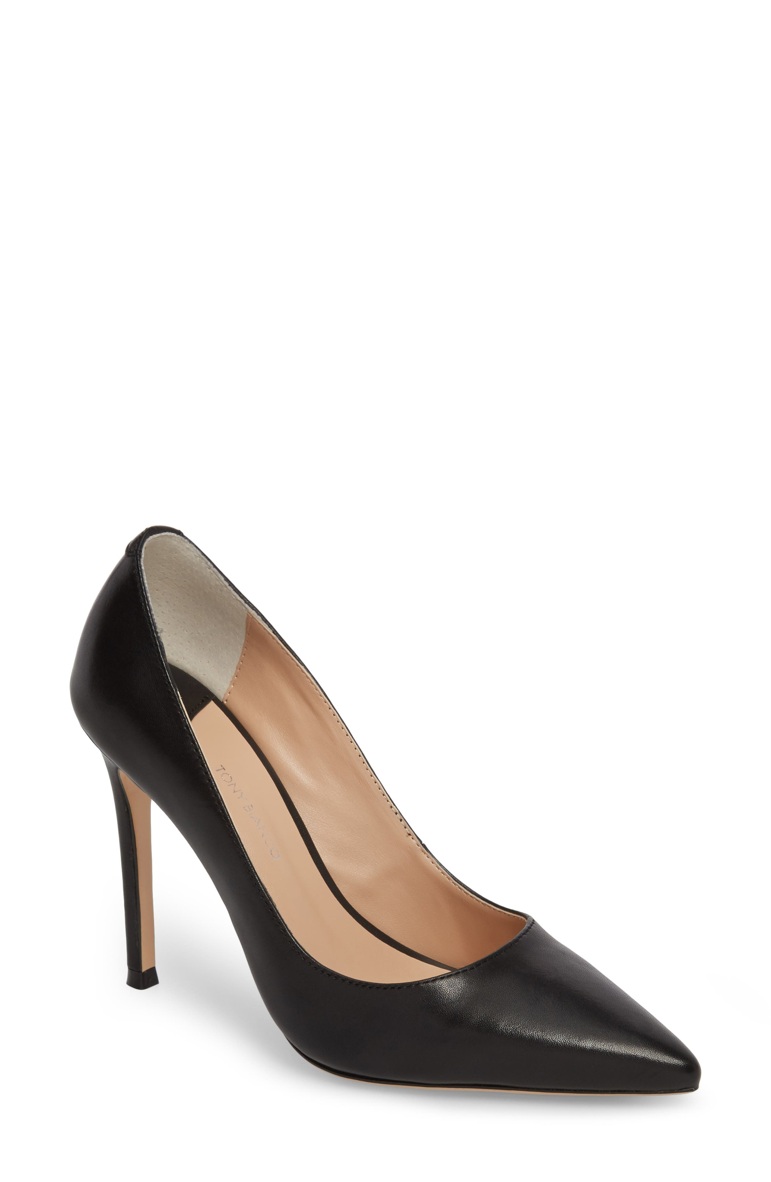 TONY BIANCO, Lotus Pointy Toe Pump, Main thumbnail 1, color, 001