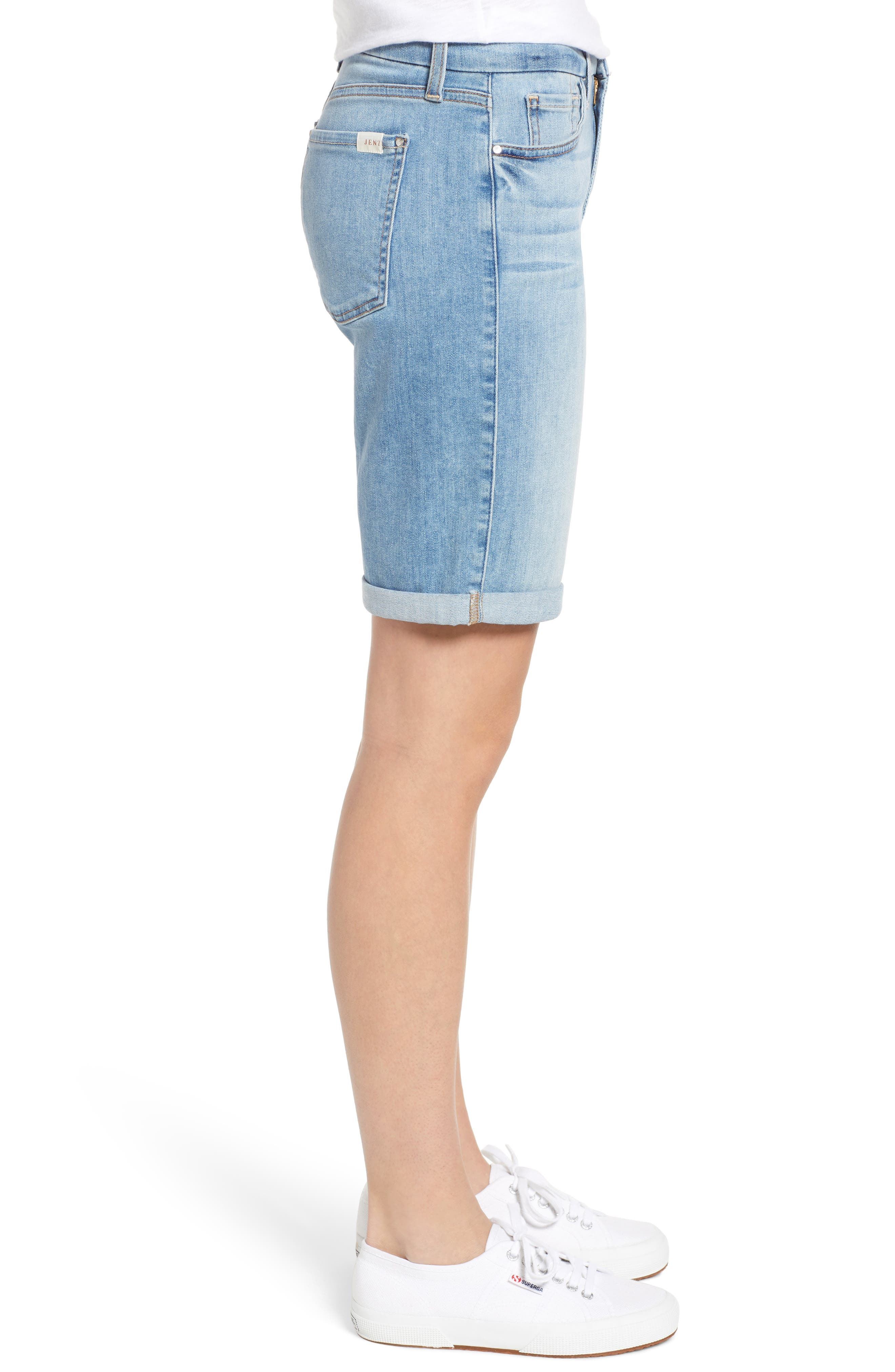 JEN7 BY 7 FOR ALL MANKIND, Roll Cuff Bermuda Shorts, Alternate thumbnail 3, color, LA QUINTA