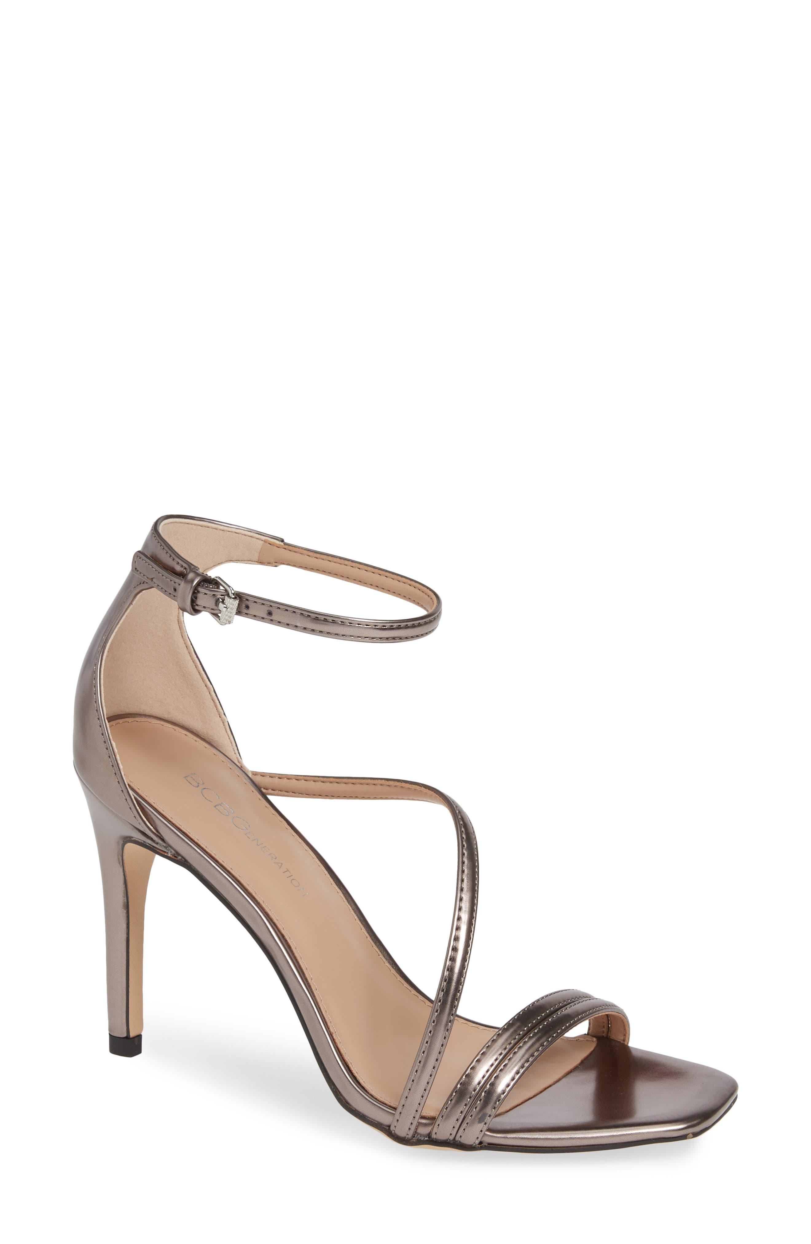 Bcbg Isabel Ankle Strap Sandal- Metallic