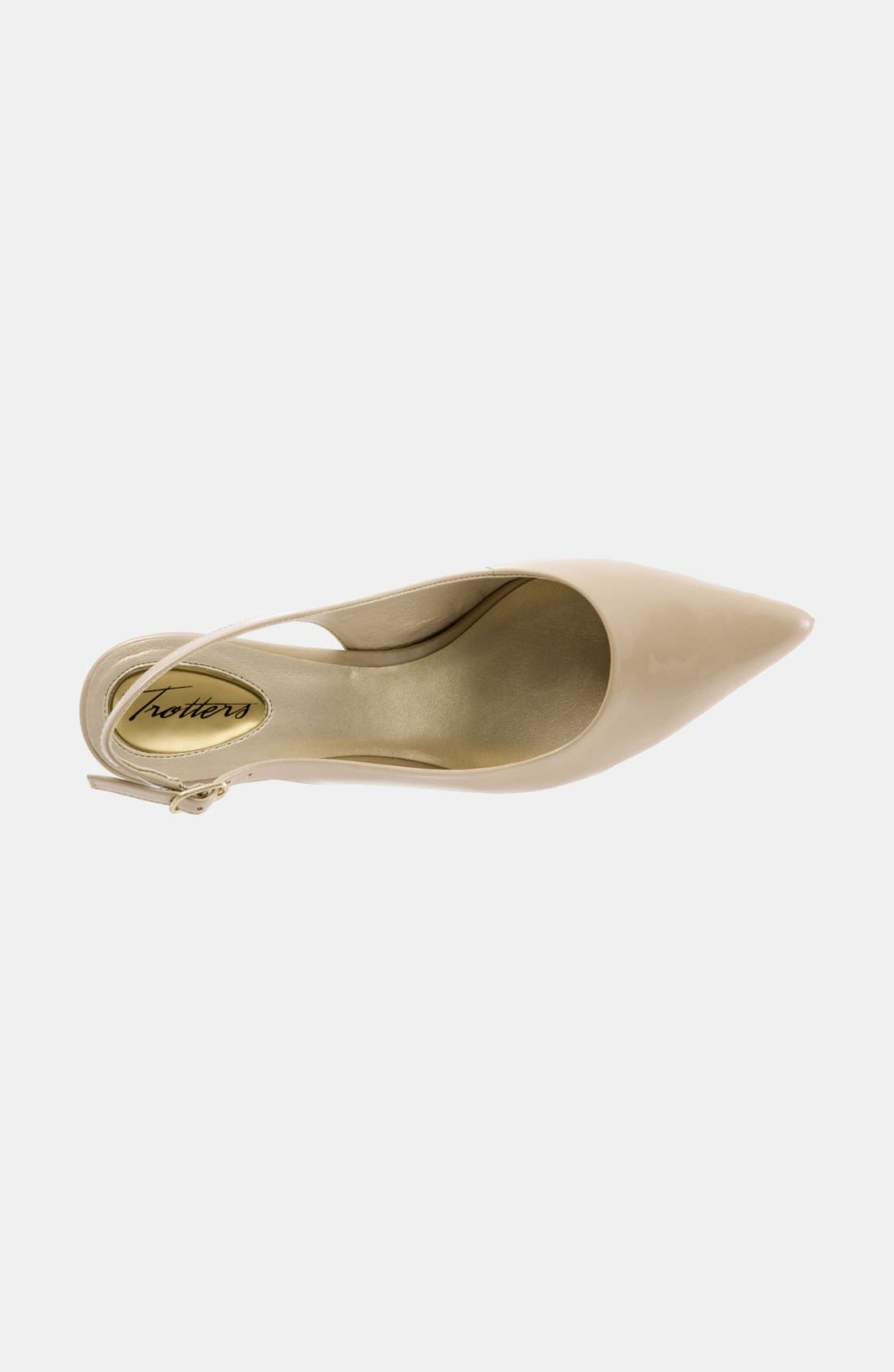TROTTERS, 'Prima' Pump, Alternate thumbnail 5, color, NUDE PATENT