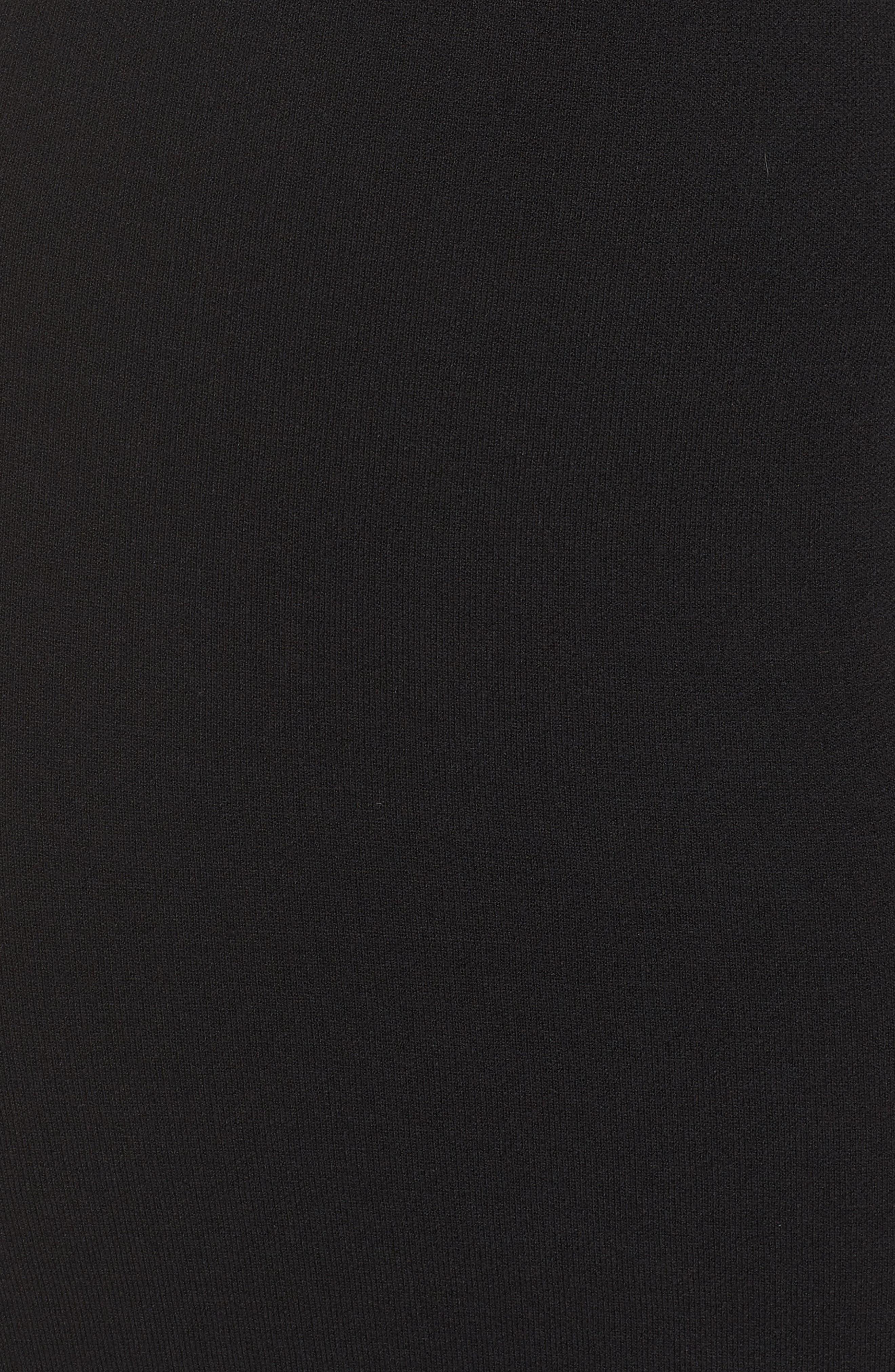 ELIZA J, Bell Sleeve Sheath Dress, Alternate thumbnail 6, color, BLACK