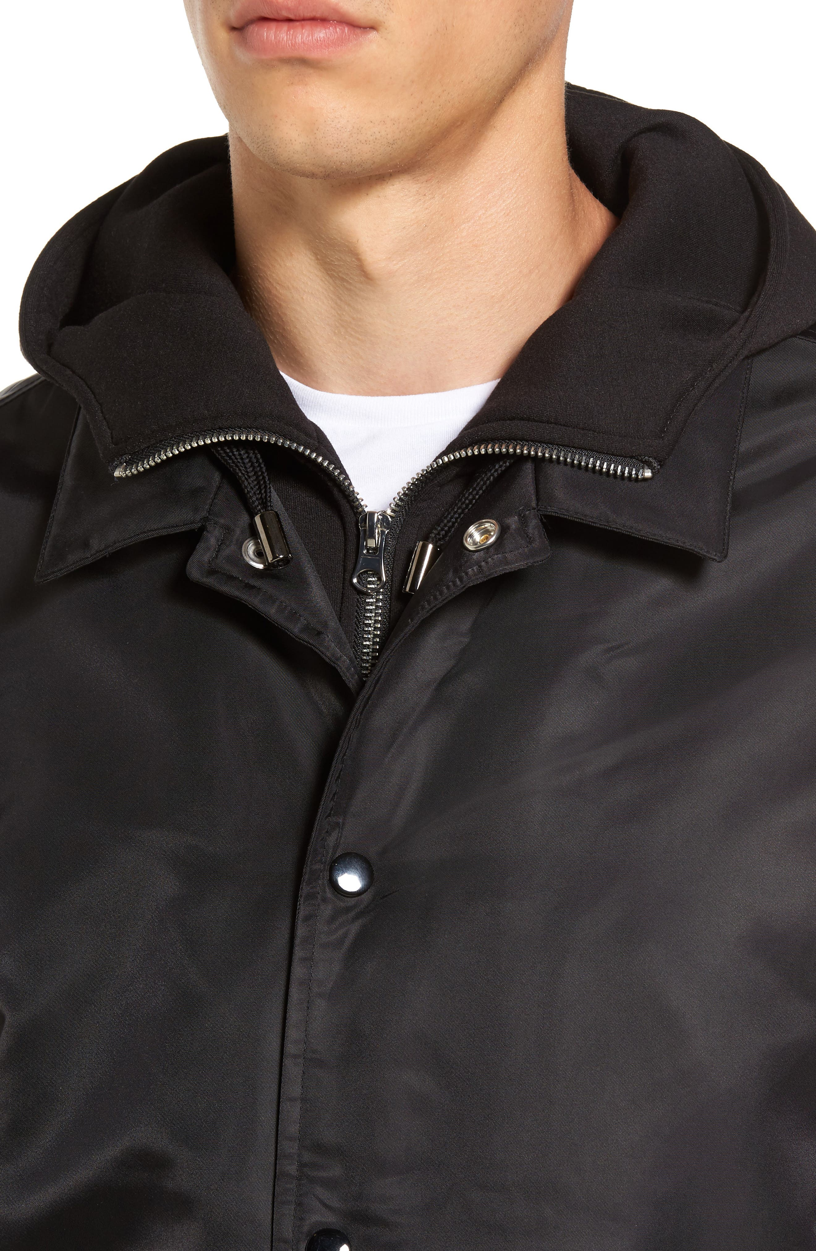 THE VERY WARM, Yorkshire Hooded Coach's Jacket, Alternate thumbnail 4, color, 001