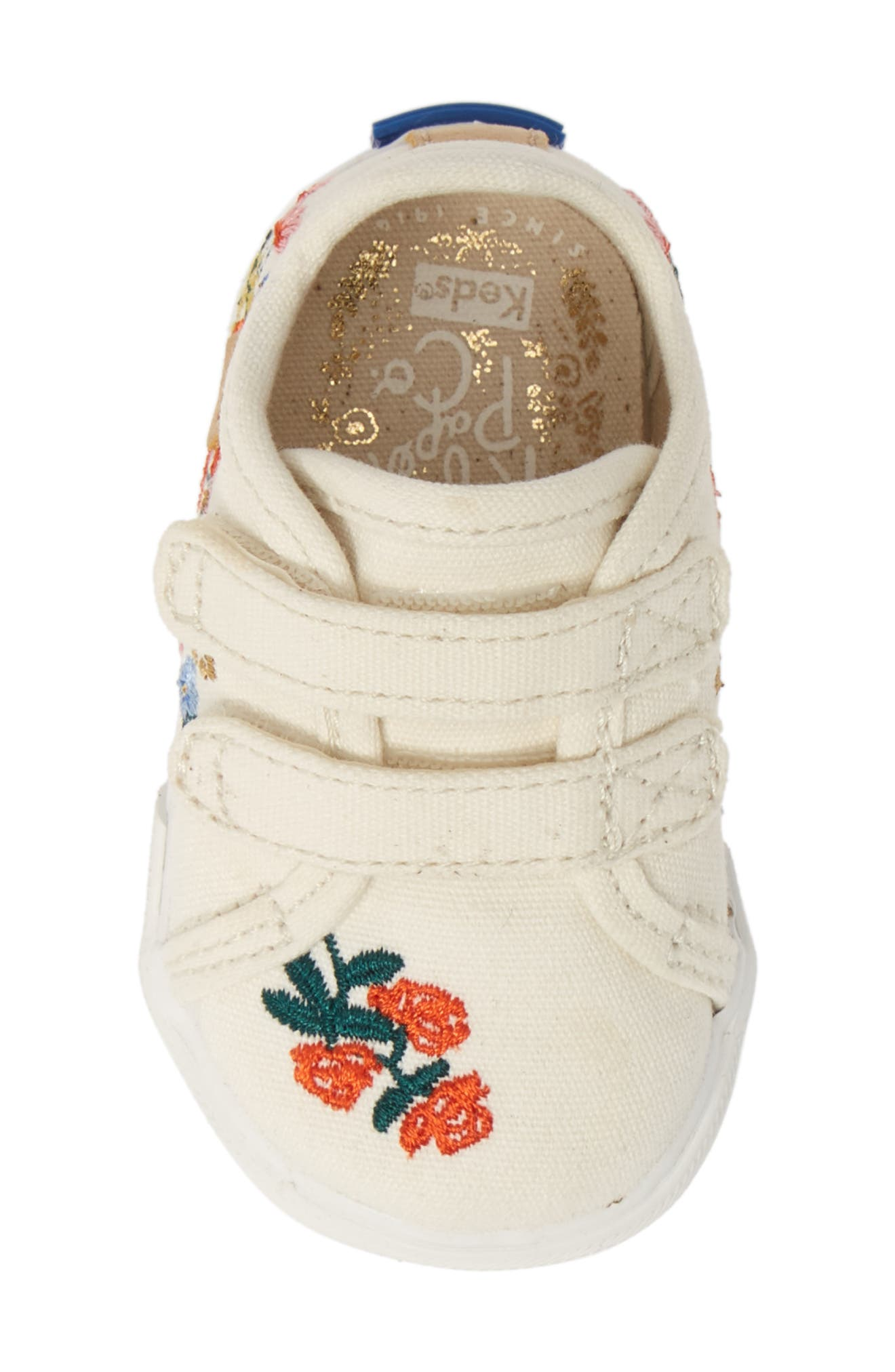 KEDS<SUP>®</SUP>, x Rifle Paper Co. Double Up Crib Shoe, Alternate thumbnail 5, color, VINES