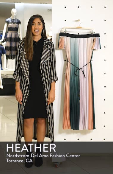Fernee Colorblock Pleated Dress, sales video thumbnail