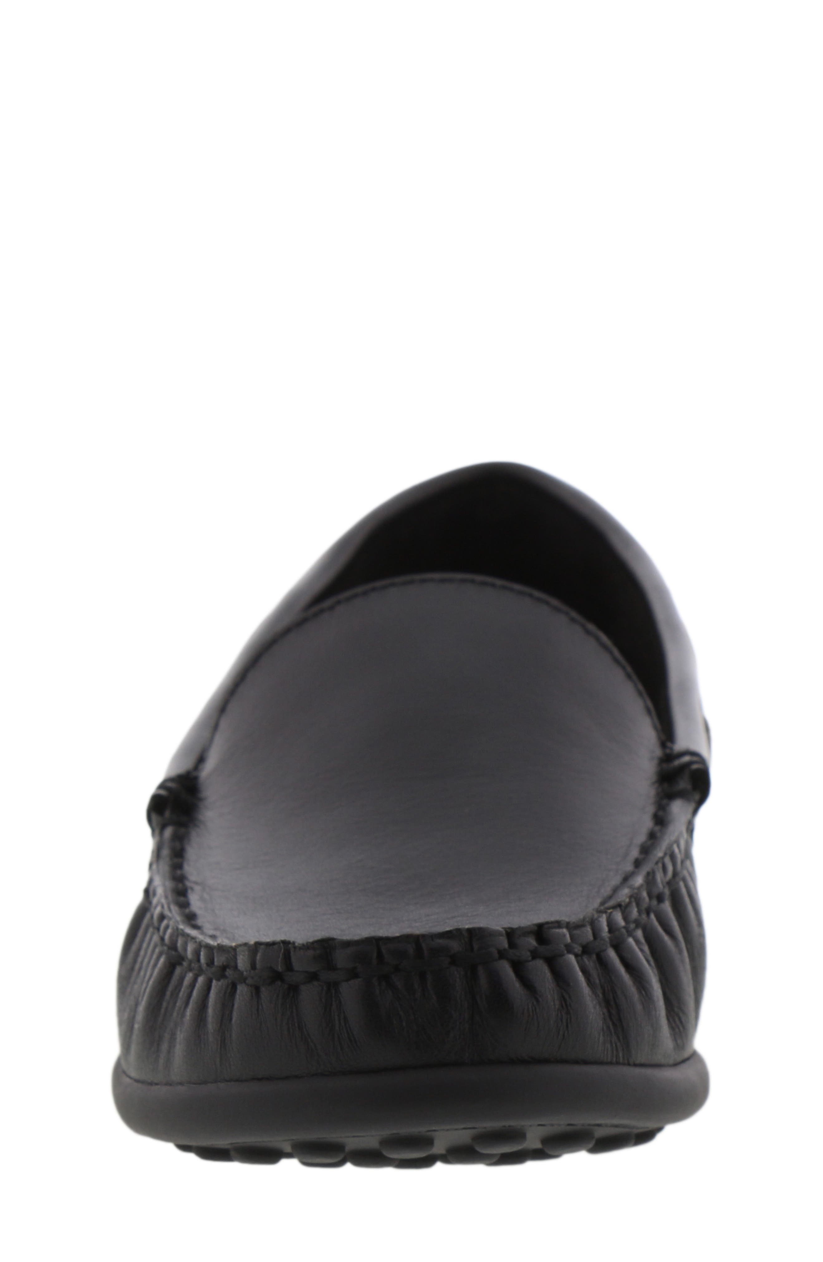 REACTION KENNETH COLE, Helio Shift Driving Moccasin, Alternate thumbnail 4, color, BLACK SMOOTH