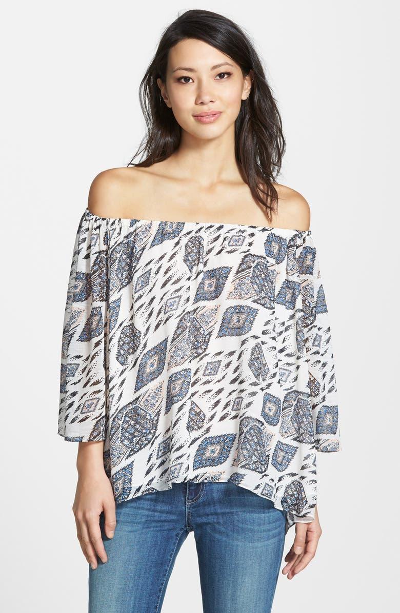 e35ecc57427f09 Vince Camuto  Marrakesh Tapestry  Off-the-Shoulder Top (Regular ...