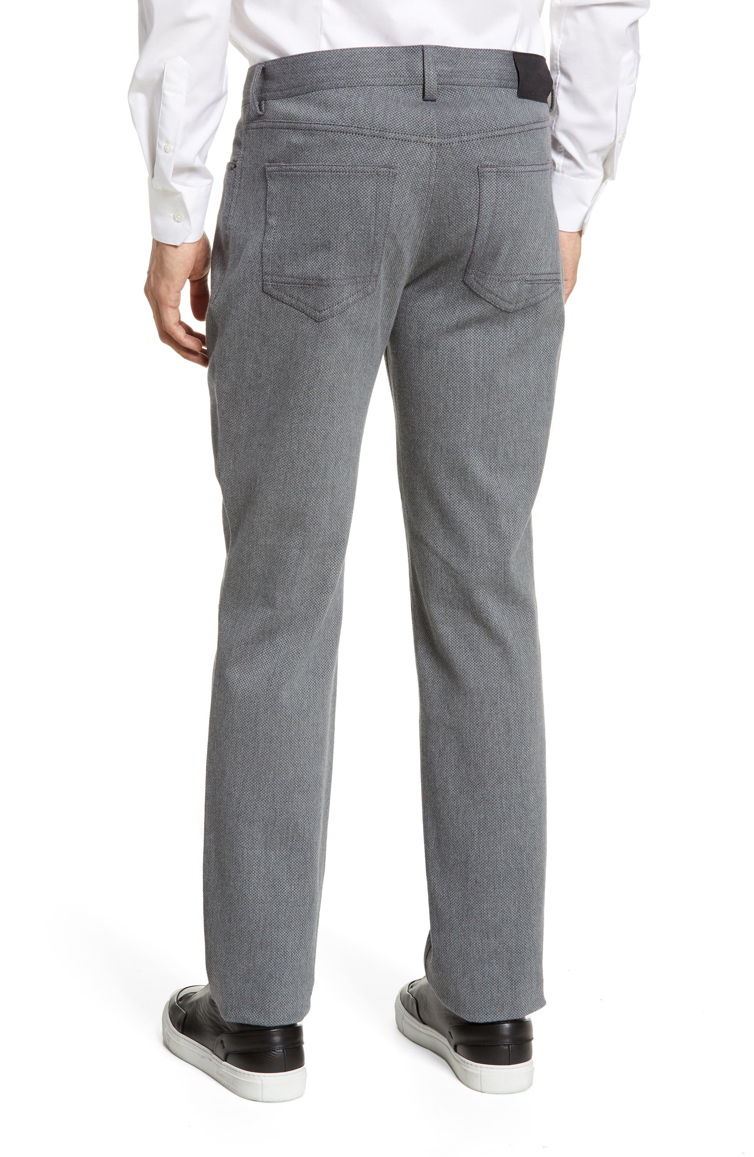 VINCE CAMUTO, Straight Leg Five Pocket Stretch Pants, Alternate thumbnail 2, color, HEATHER CHARCOAL CROSSHATCH