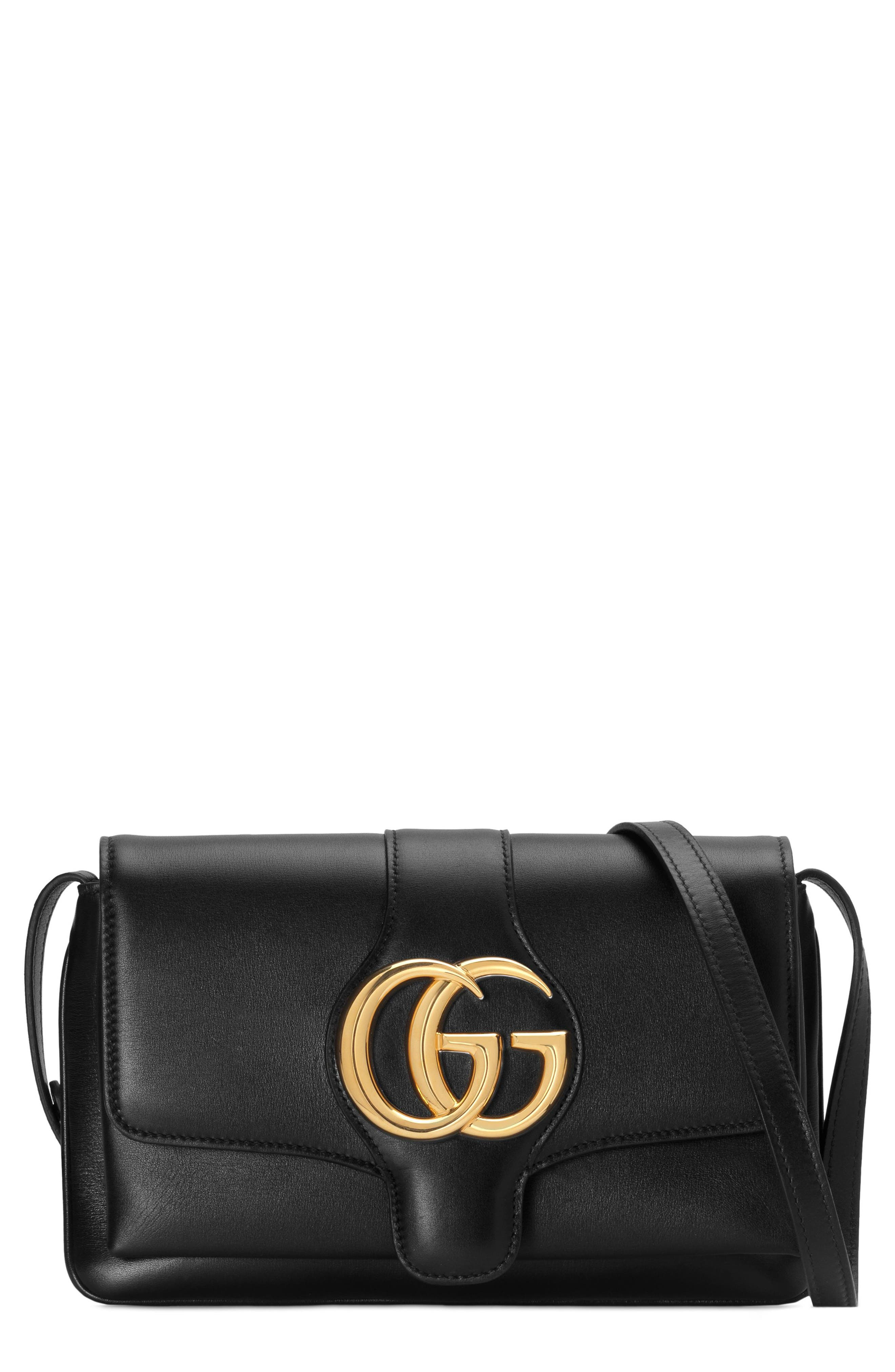 GUCCI Small Arli Convertible Shoulder Bag, Main, color, NERO