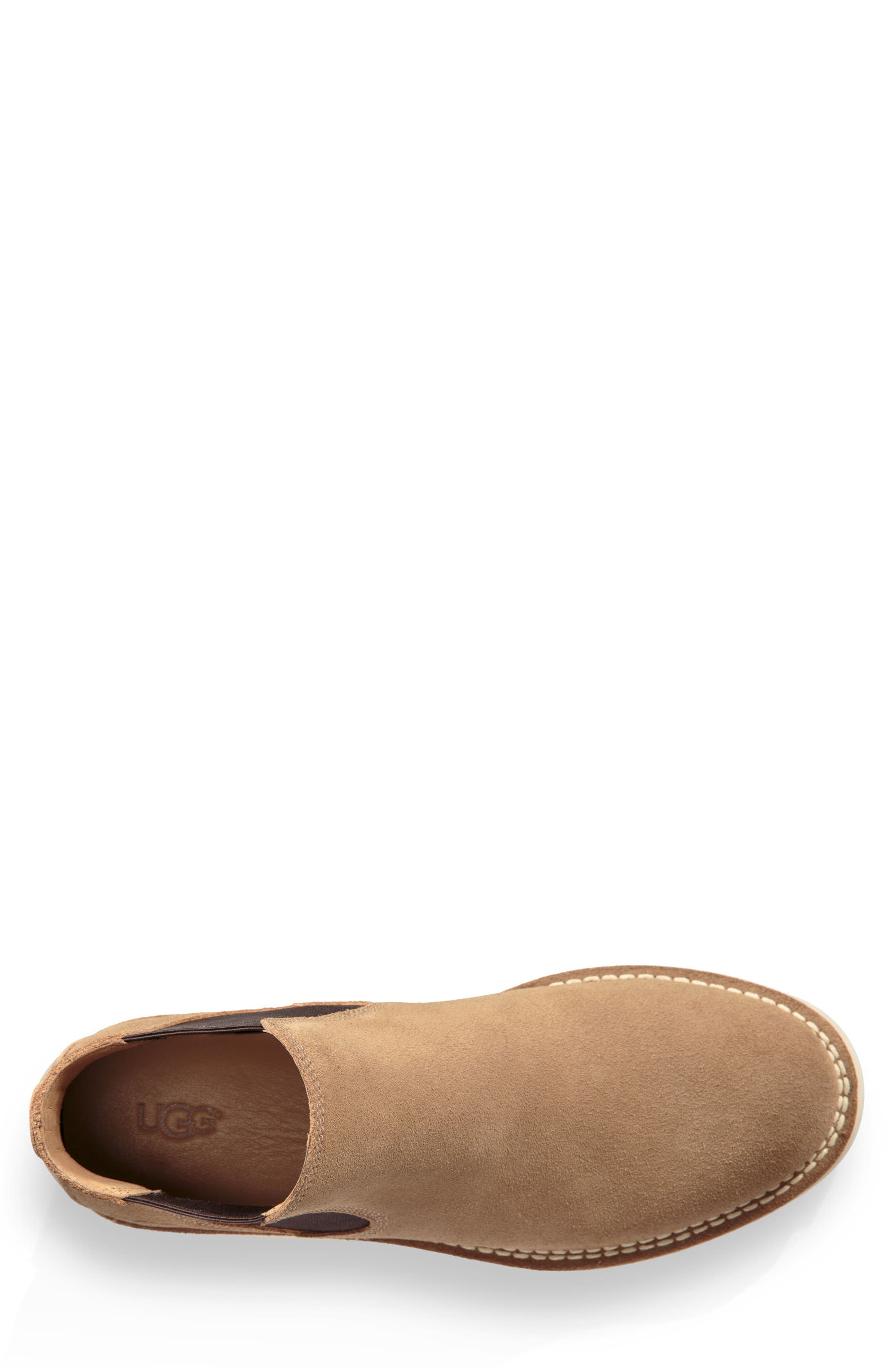 UGG<SUP>®</SUP>, Camino Chelsea Boot, Alternate thumbnail 4, color, DESERT TAN