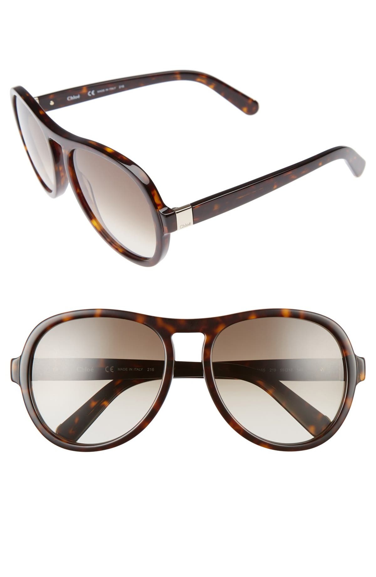 af18a867aa61 Chloé Marlow 59mm Oversized Sunglasses