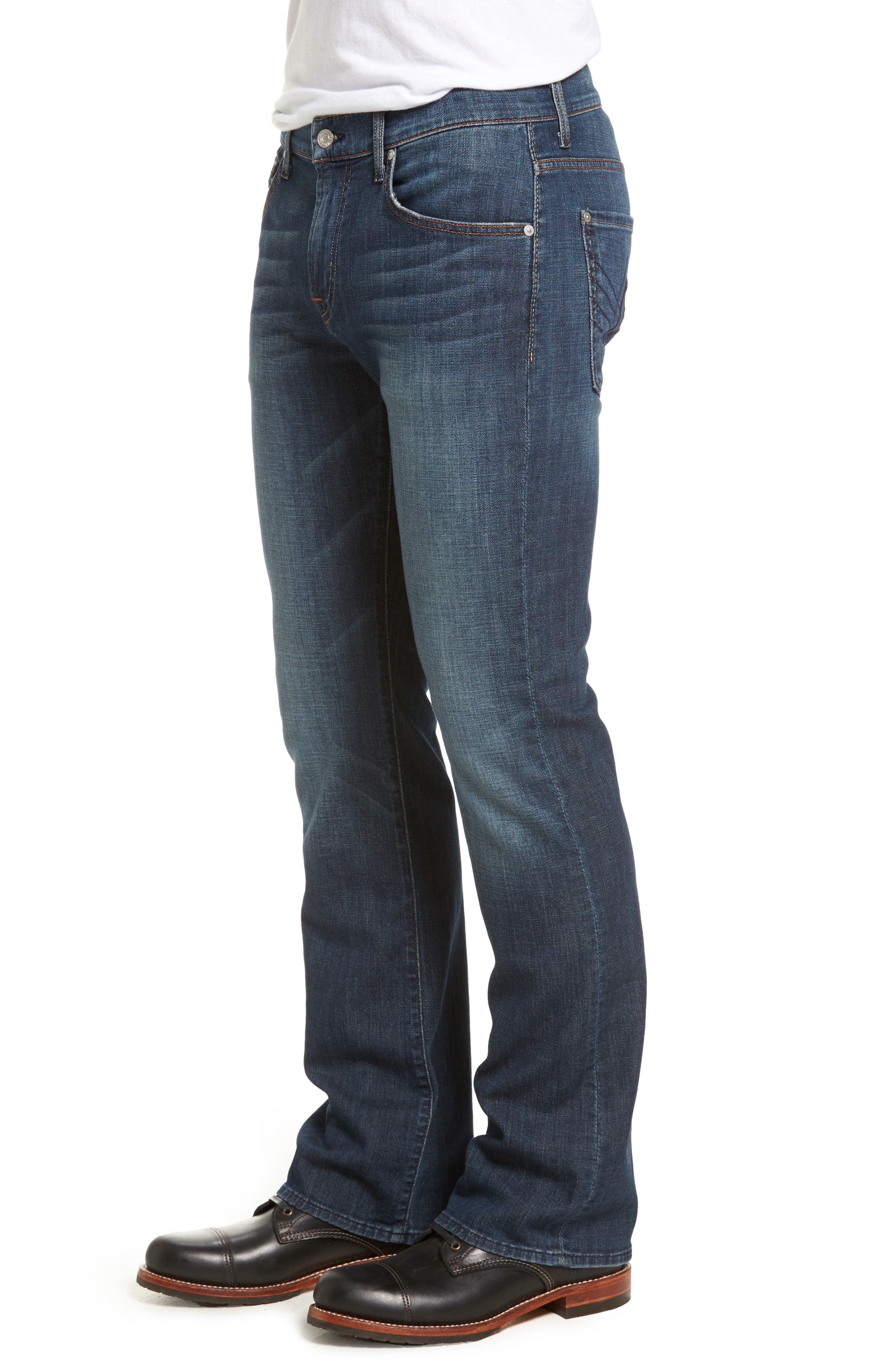 7 FOR ALL MANKIND<SUP>®</SUP>, Brett Bootcut Jeans, Alternate thumbnail 4, color, DARK NEW YORK